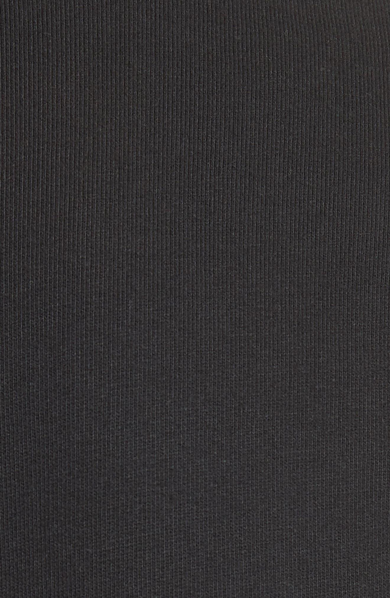 Half Zip Sweatshirt,                             Alternate thumbnail 5, color,                             001