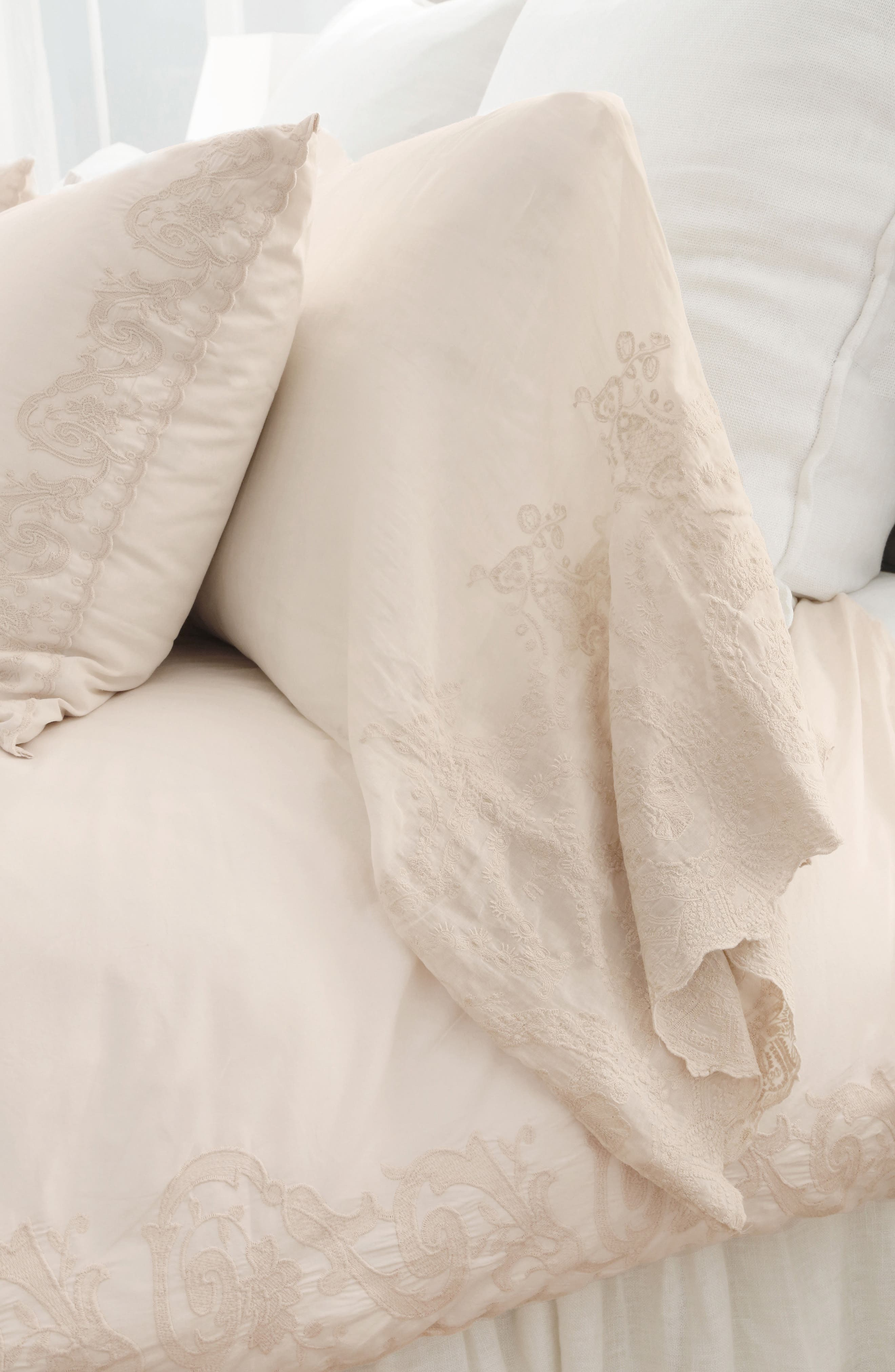 Grace Pillowcases,                             Alternate thumbnail 2, color,                             TAUPE