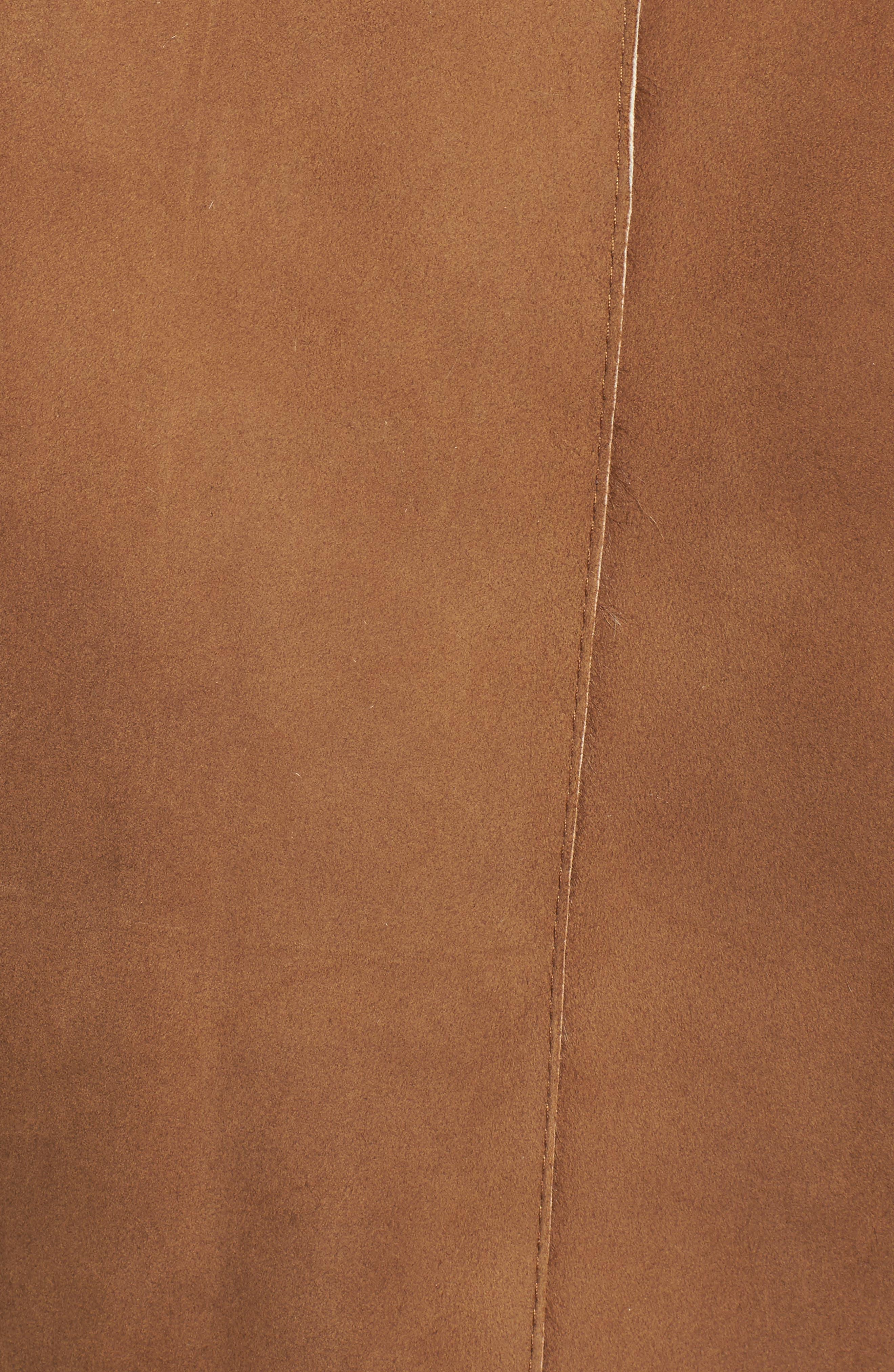 Genuine Toscana Shearling Coat,                             Alternate thumbnail 6, color,                             202