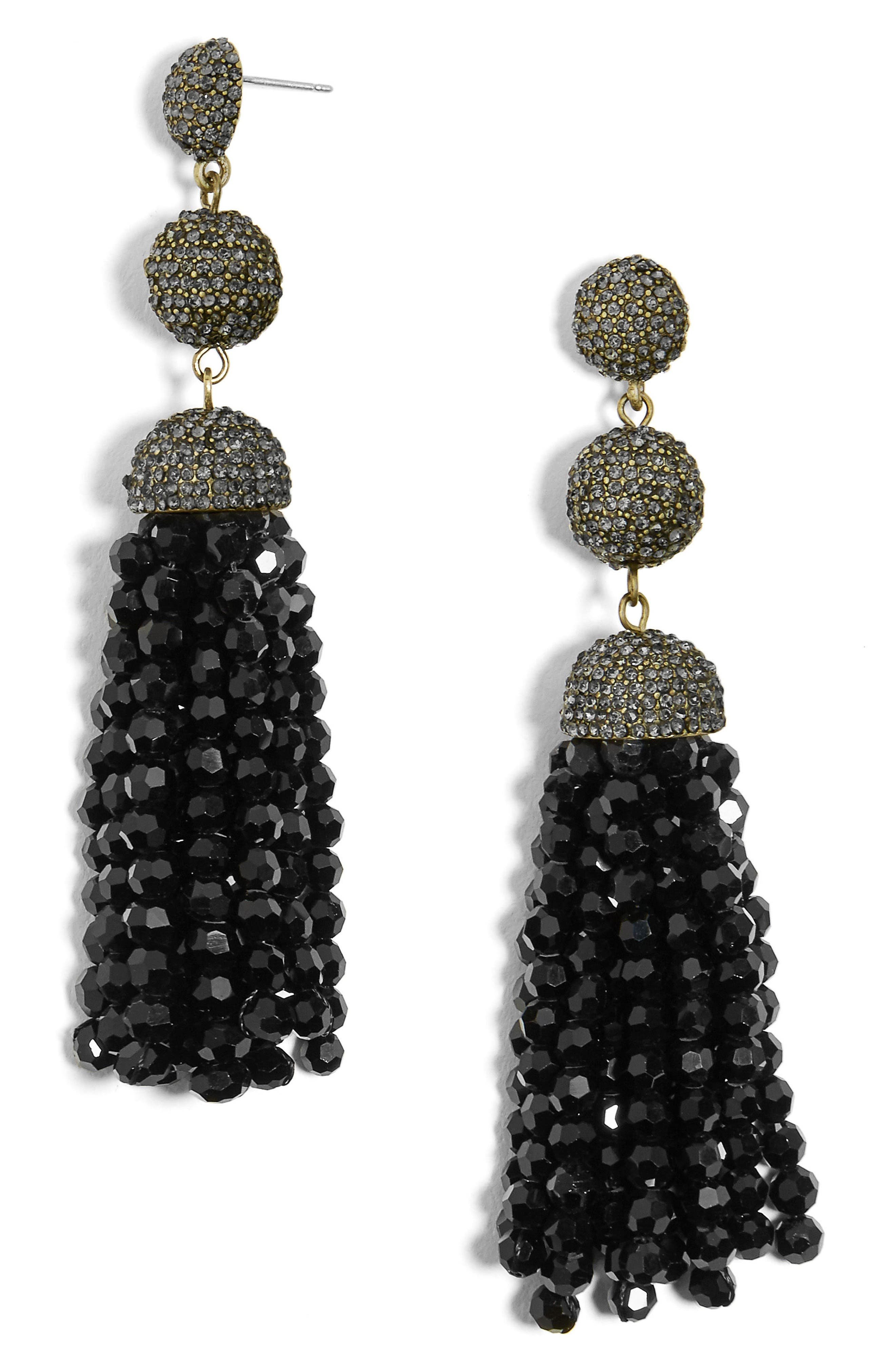 Tinsley Beaded Tassel Drop Earrings,                             Main thumbnail 1, color,