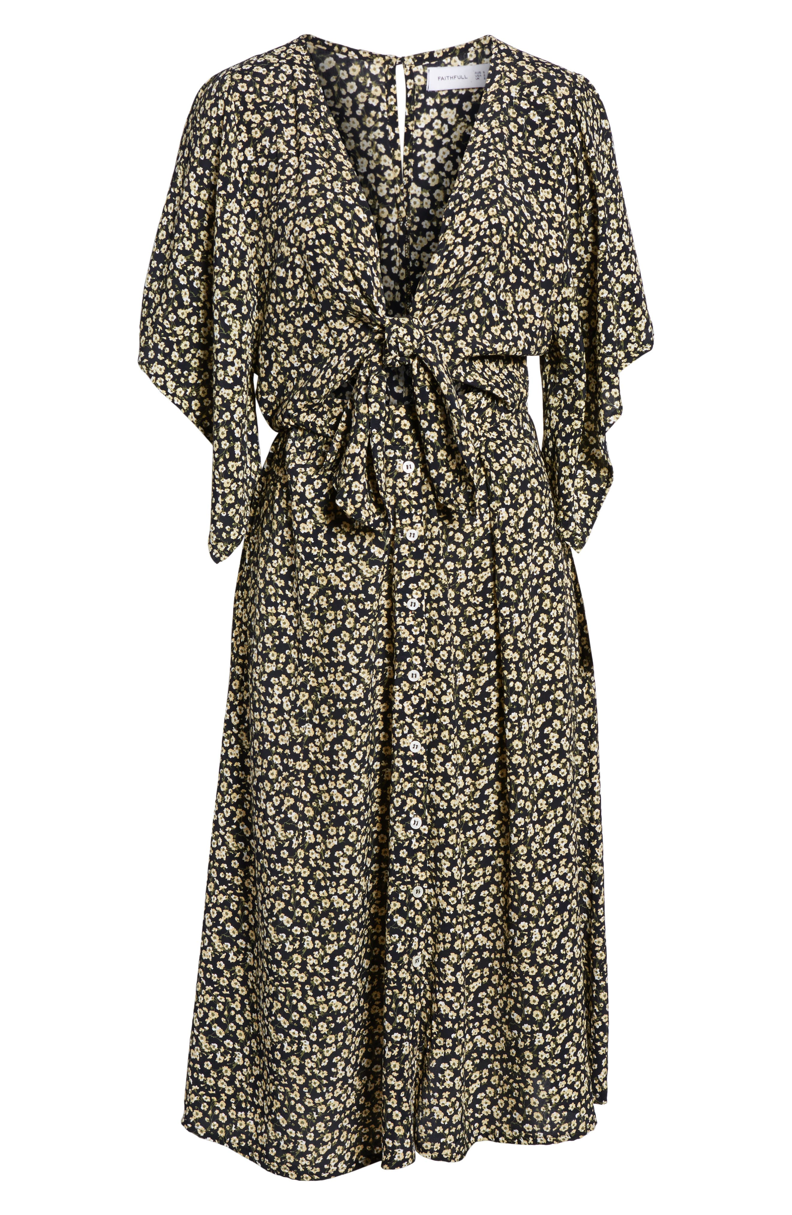 Massimo Tie Front Midi Dress,                             Alternate thumbnail 6, color,                             700
