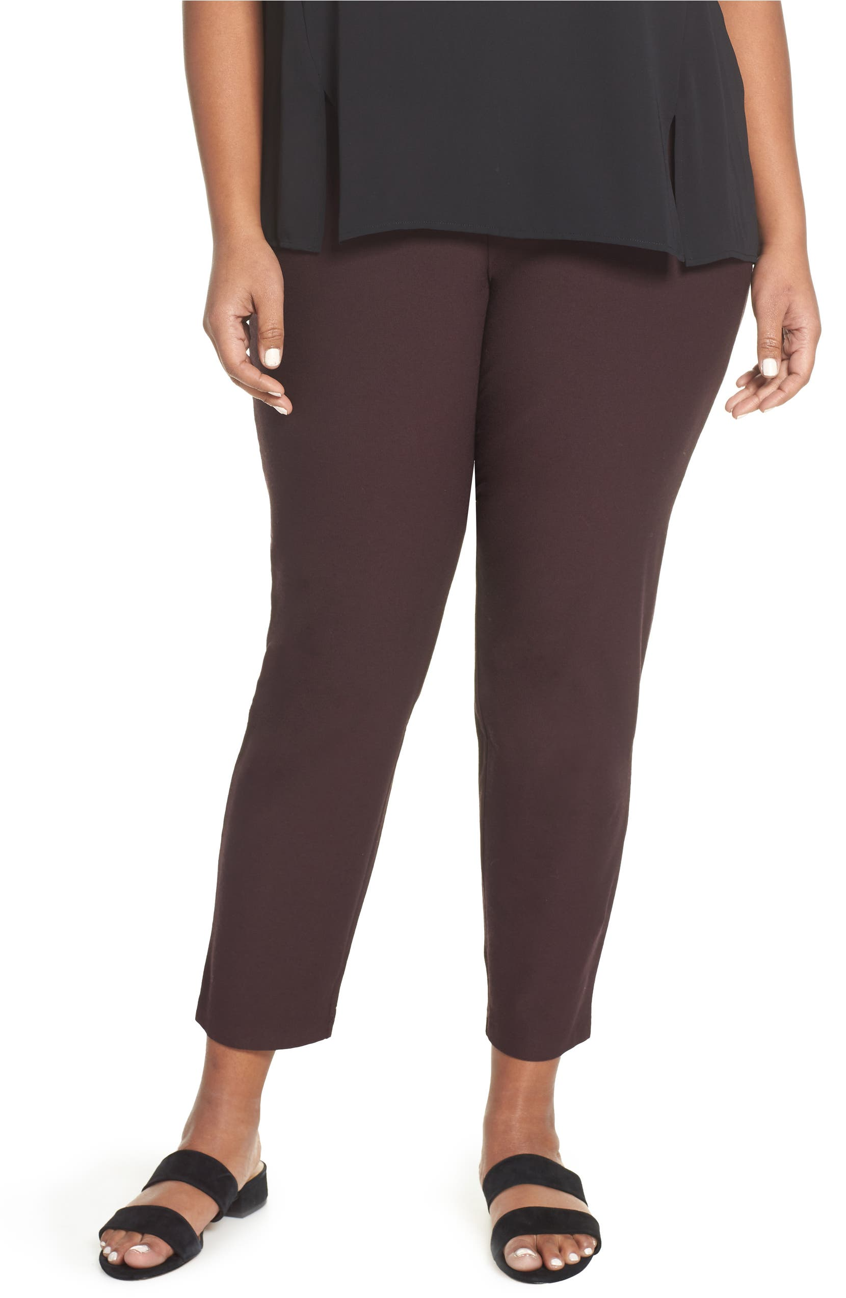 a486292bfed3d Eileen Fisher Slim Ankle Pants (Plus Size)