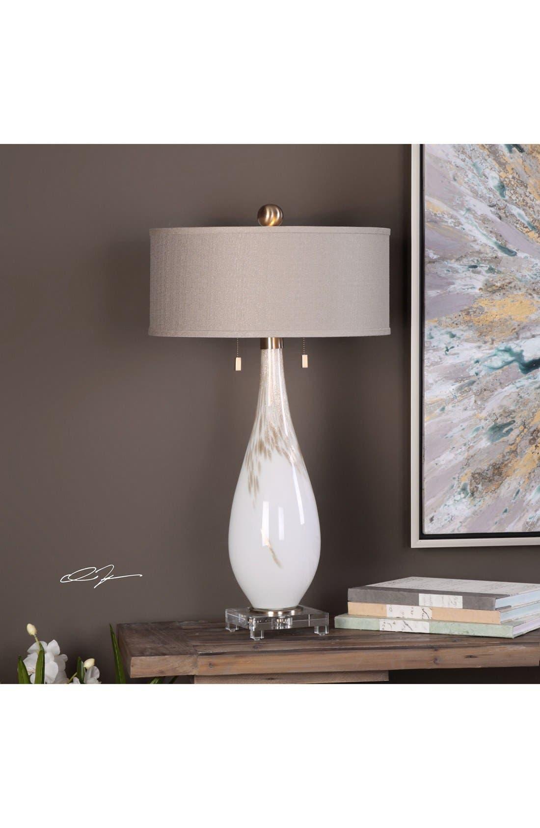 White Glass Table Lamp,                             Alternate thumbnail 2, color,                             100
