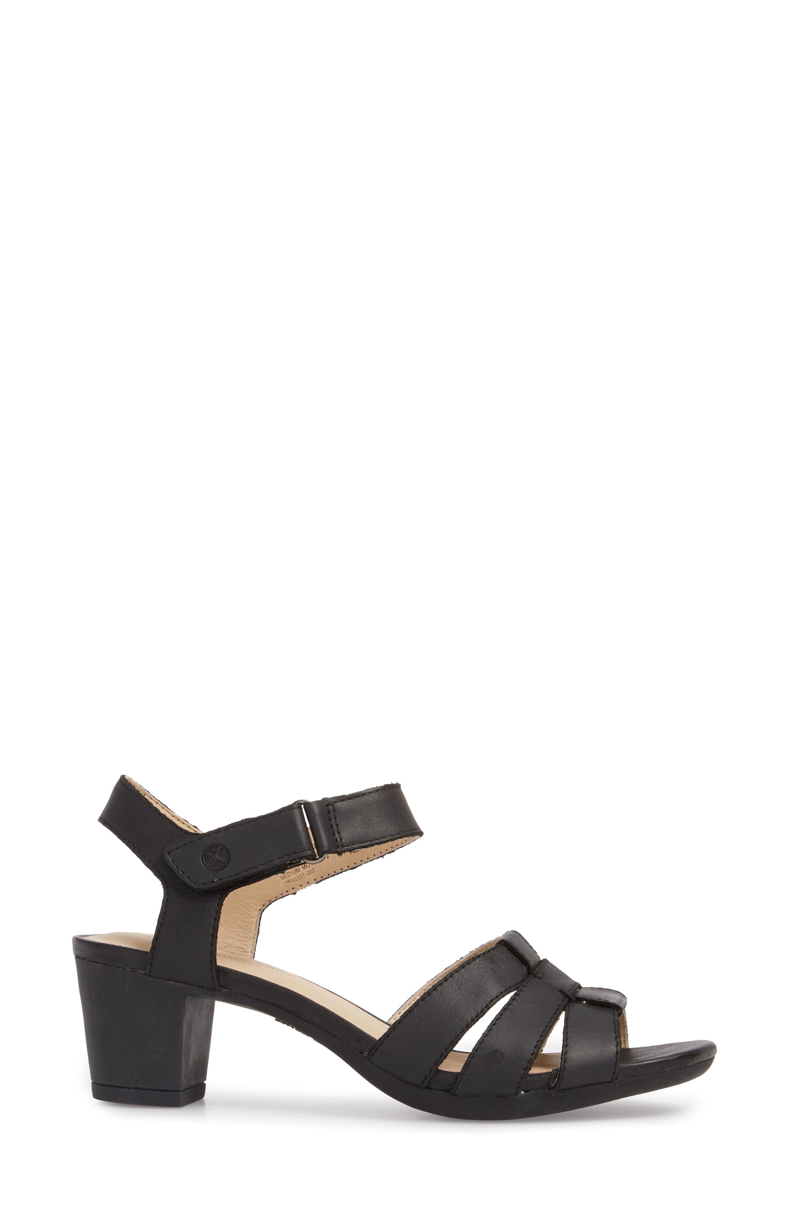 Masseter Quarter Strap Sandal,                             Alternate thumbnail 3, color,                             007