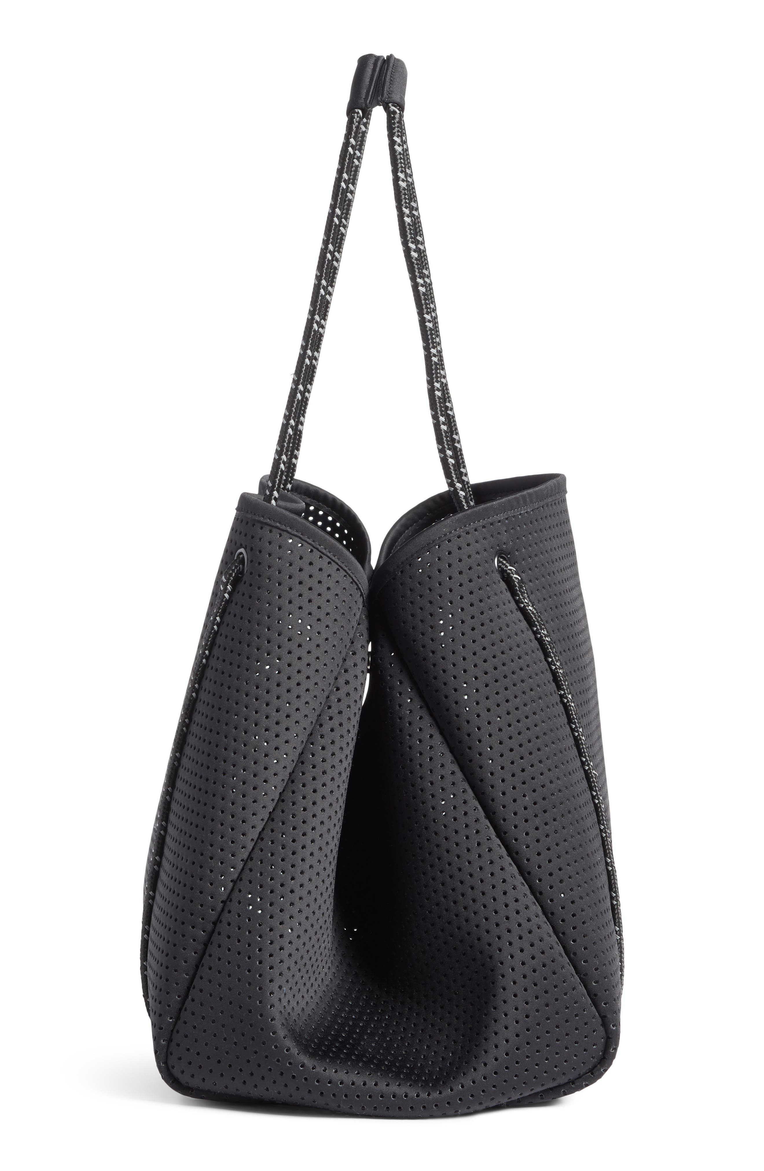 Perforated Tote Bag,                             Alternate thumbnail 5, color,                             BLACK