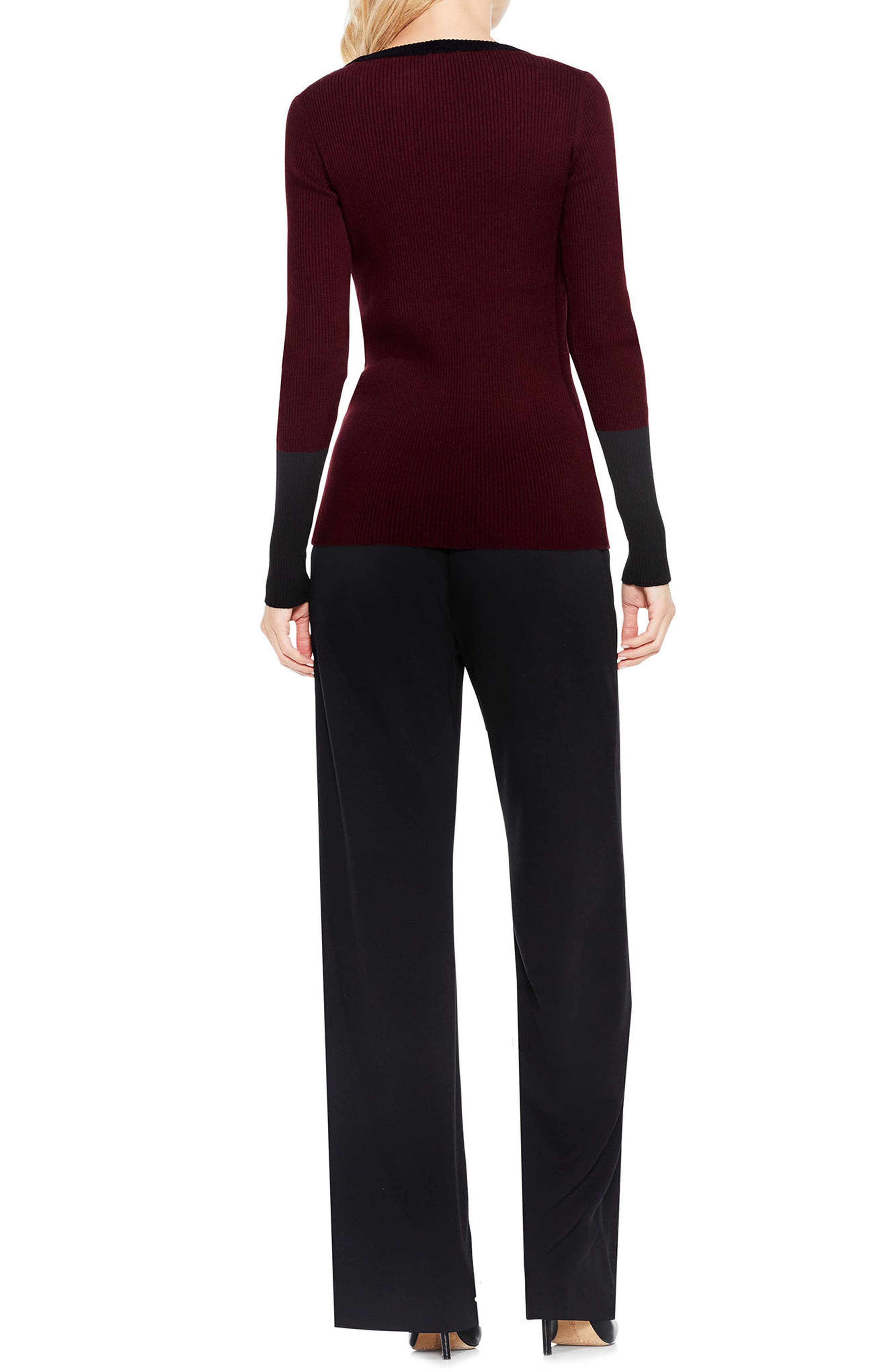 Colorblock Ribbed Sweater,                             Alternate thumbnail 6, color,