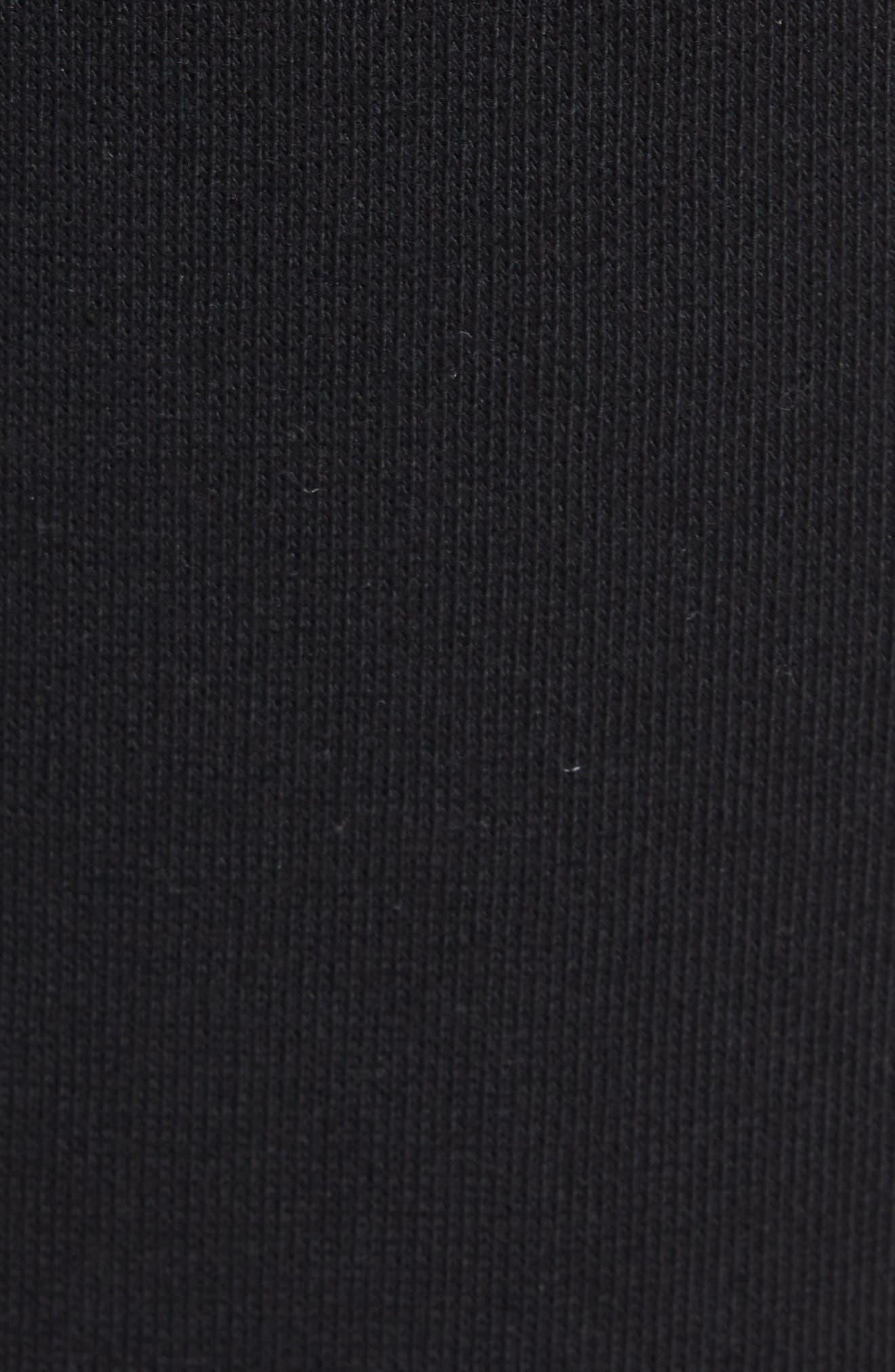Classic Slim Fit Fleece Joggers,                             Alternate thumbnail 5, color,                             BLACK BLA01