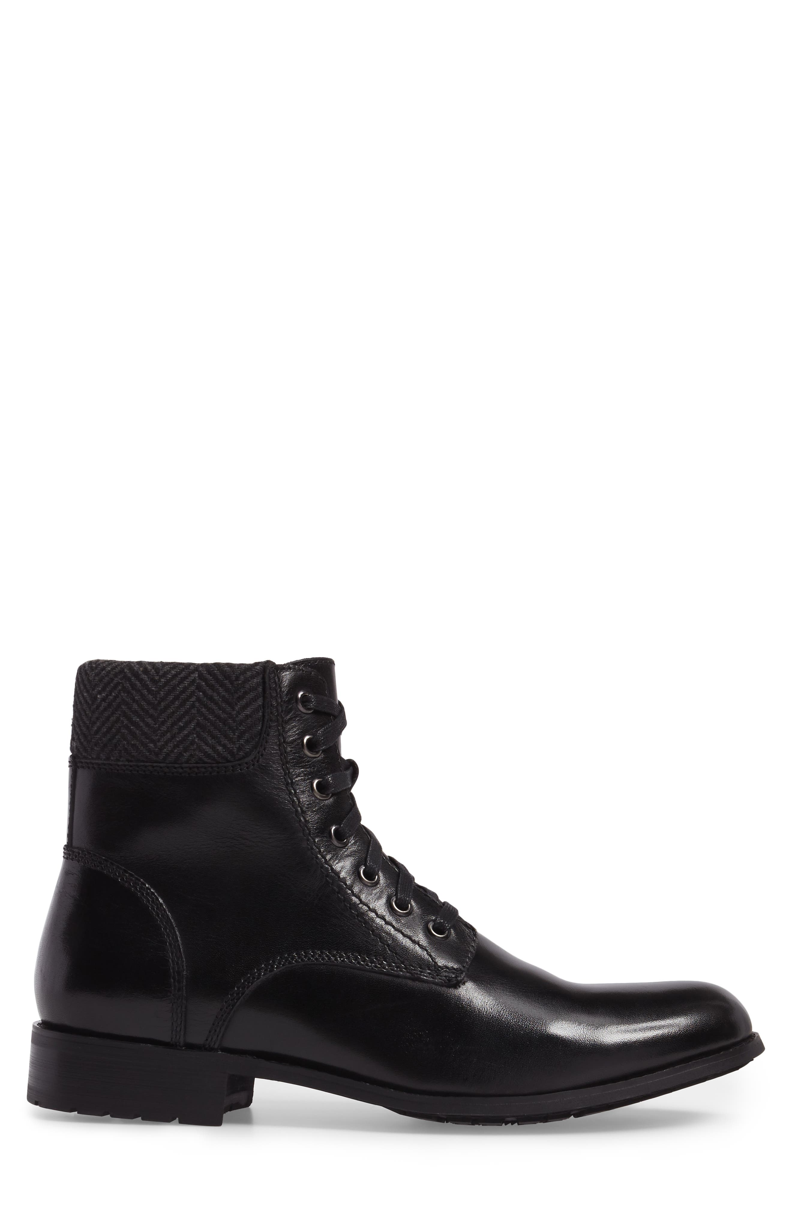 Saar Plain Toe Boot,                             Alternate thumbnail 3, color,                             001