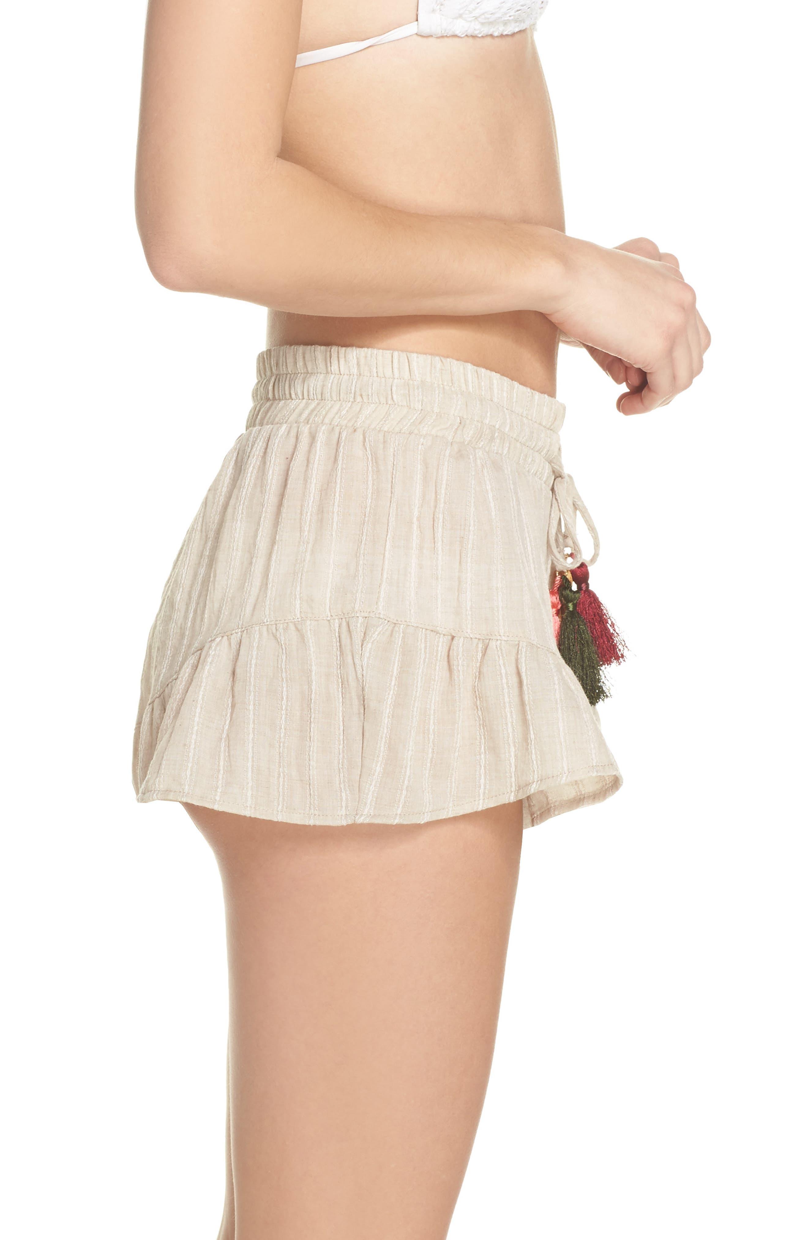 Ruffle Cover-Up Shorts,                             Alternate thumbnail 3, color,                             250