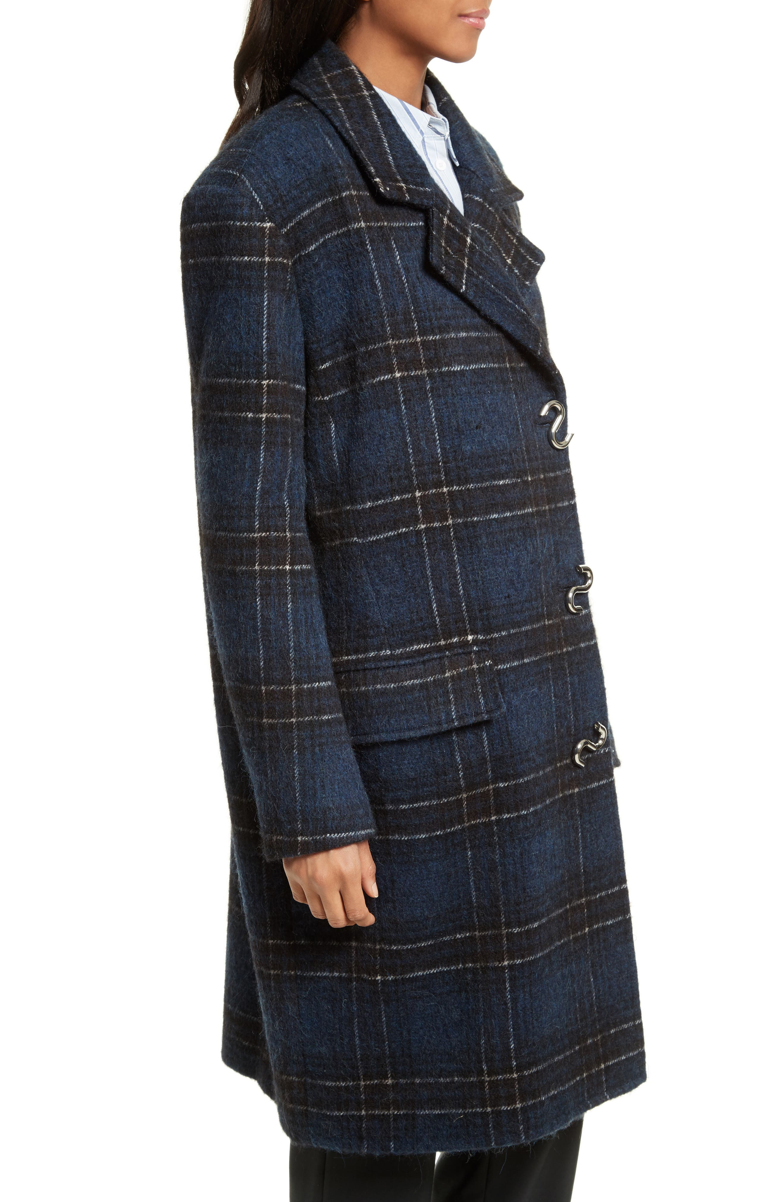 Dominic Plaid Oversize Coat,                             Alternate thumbnail 3, color,                             402