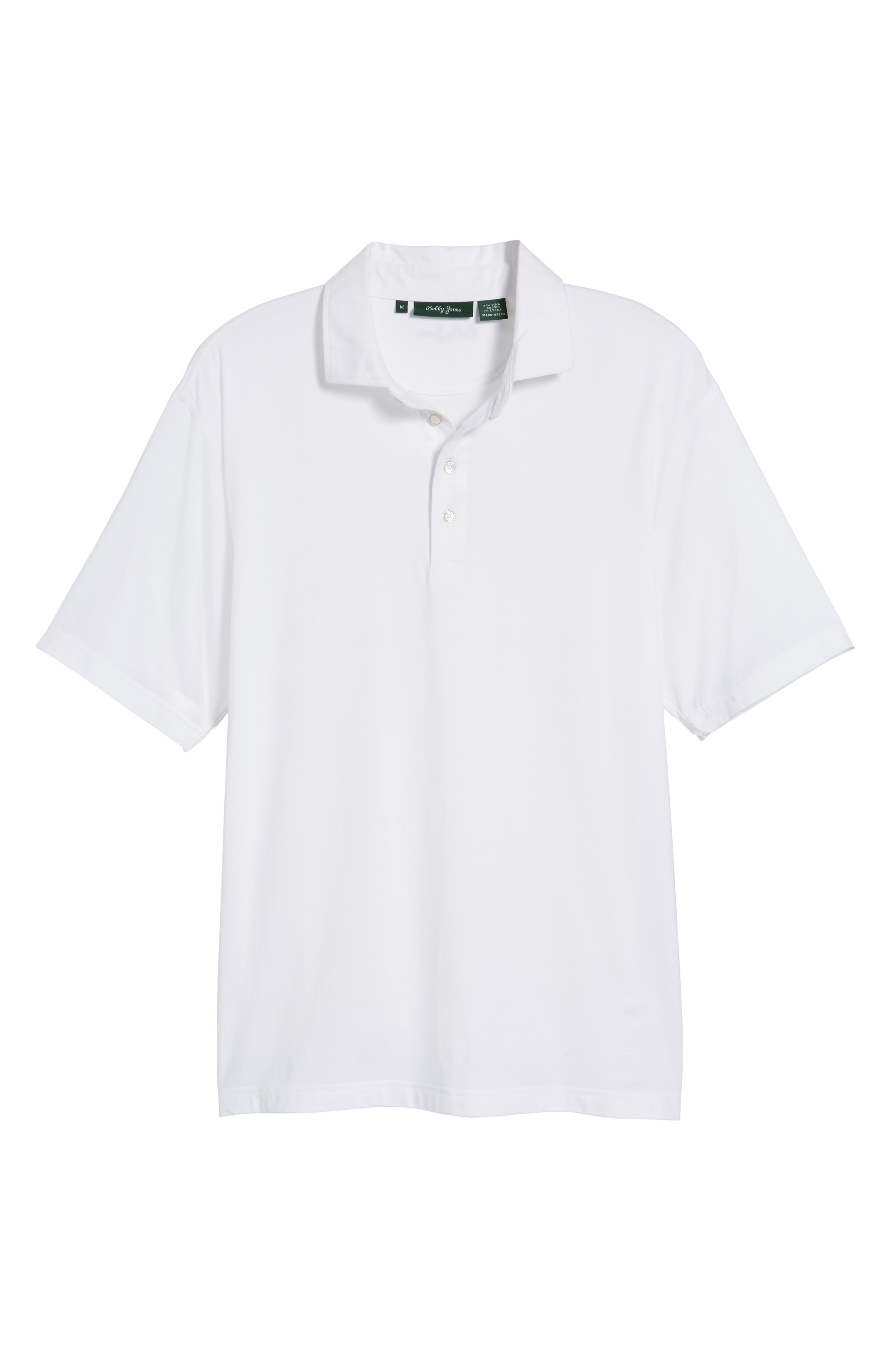 Liquid Cotton Stretch Jersey Polo,                             Alternate thumbnail 6, color,                             100