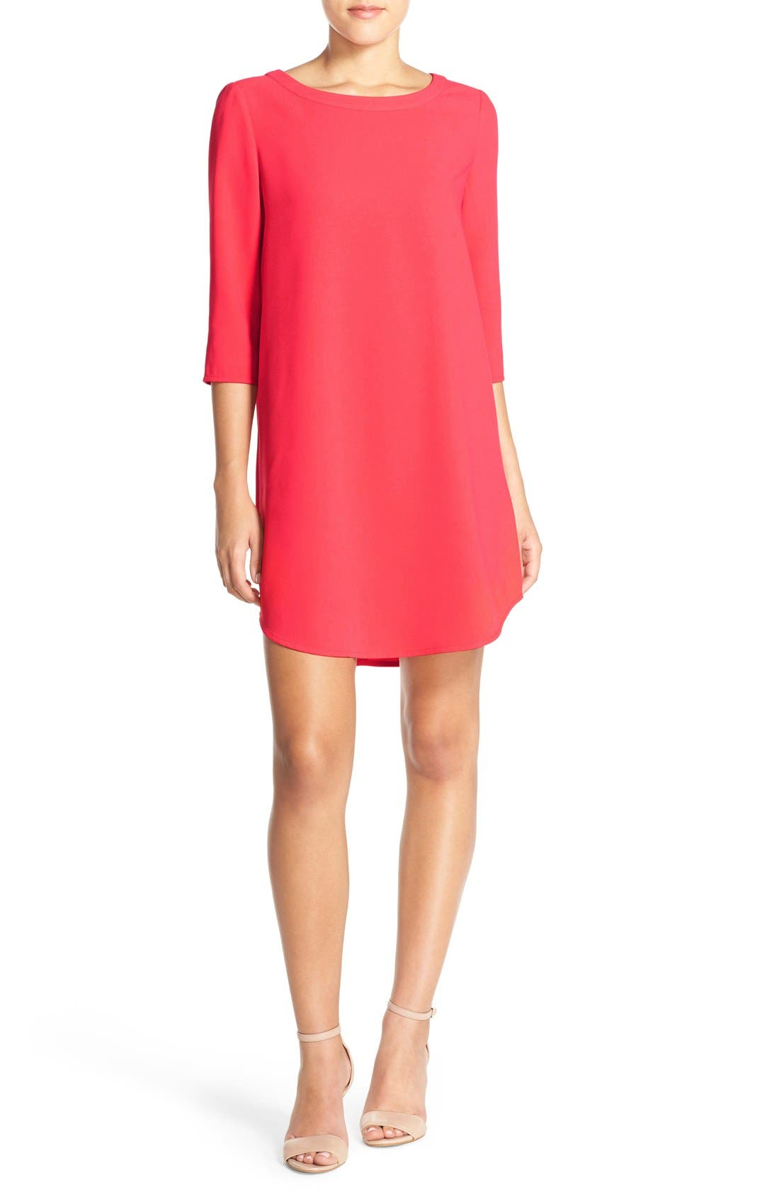 'Jazlyn' Crepe Shift Dress,                             Alternate thumbnail 23, color,