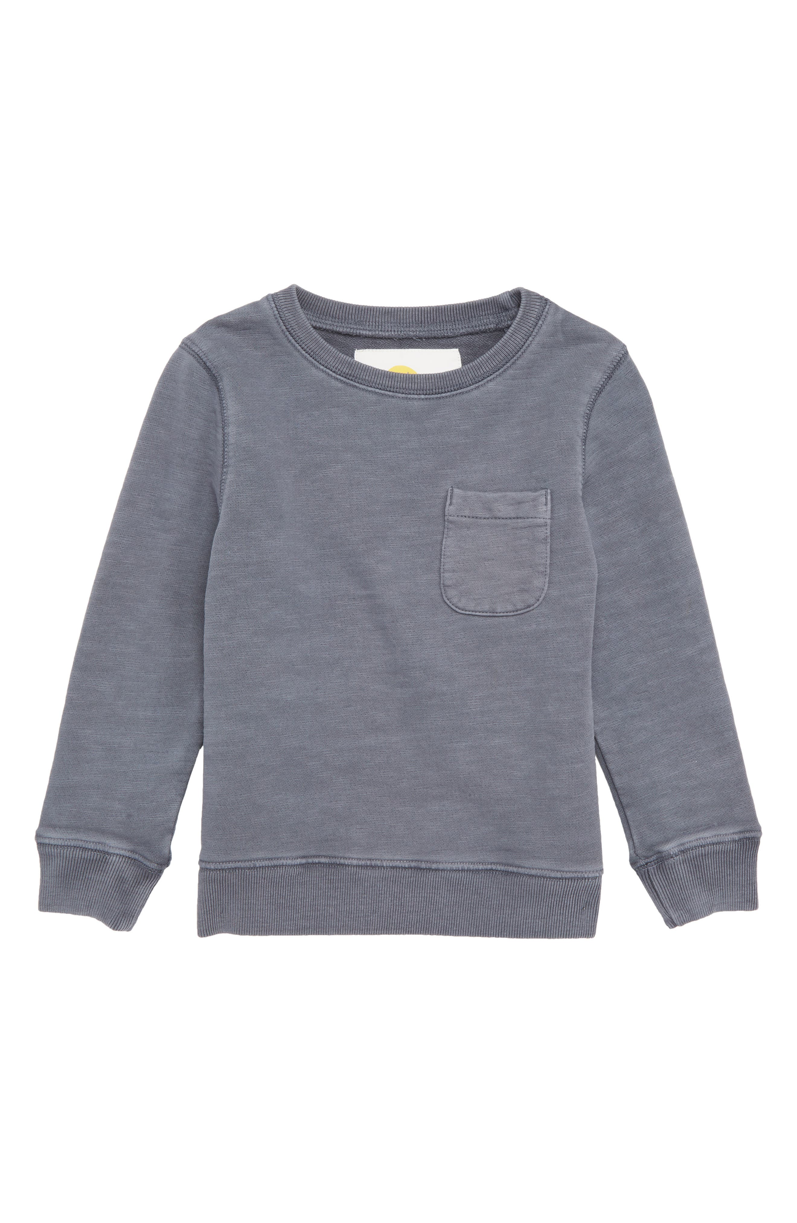 MINI BODEN Pocket Crewneck Sweatshirt, Main, color, 062