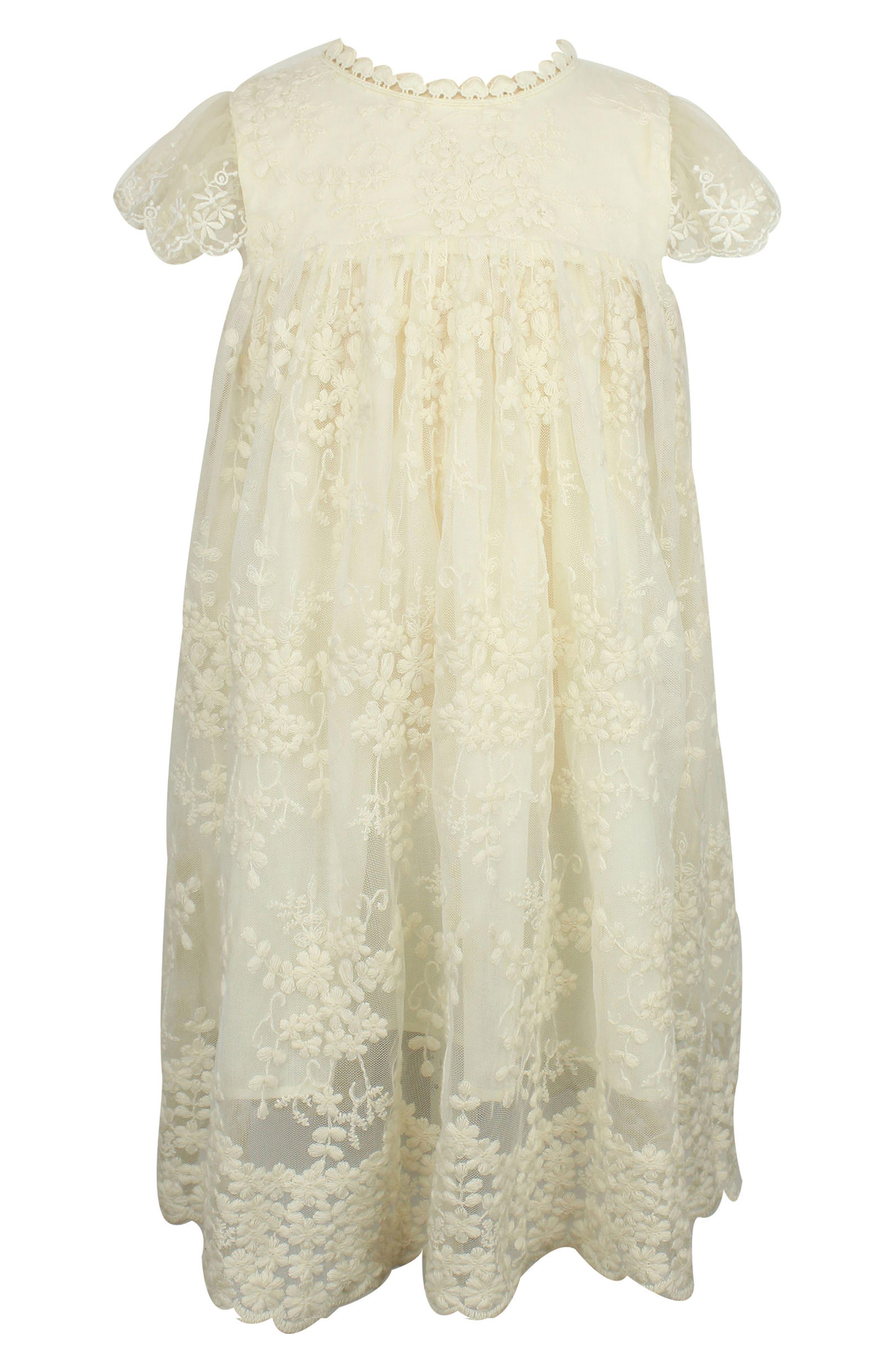 Lace Dress,                         Main,                         color, IVORY
