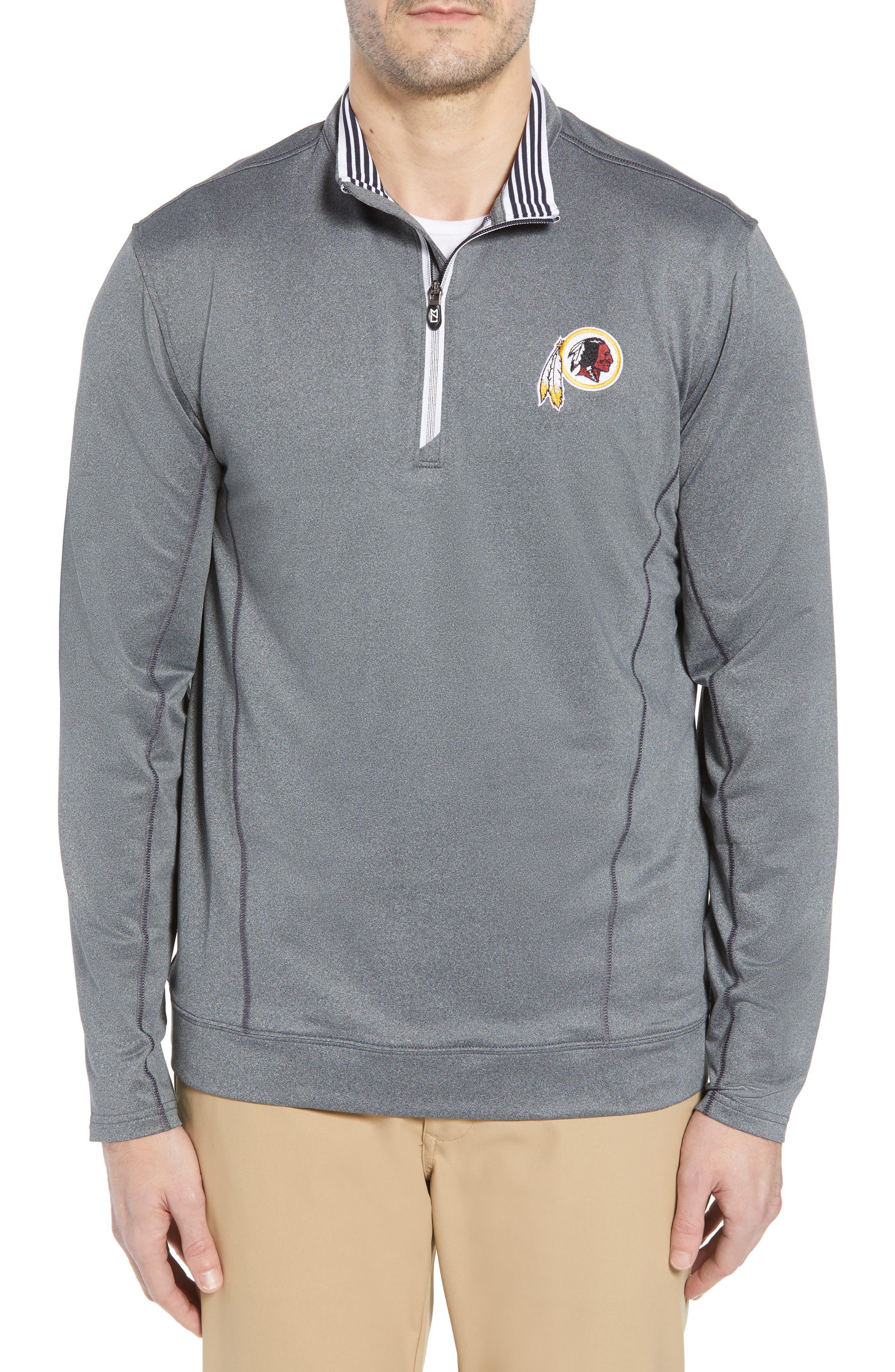 Endurance Washington DC NFL Team Regular Fit Pullover,                         Main,                         color, CHARCOAL HEATHER
