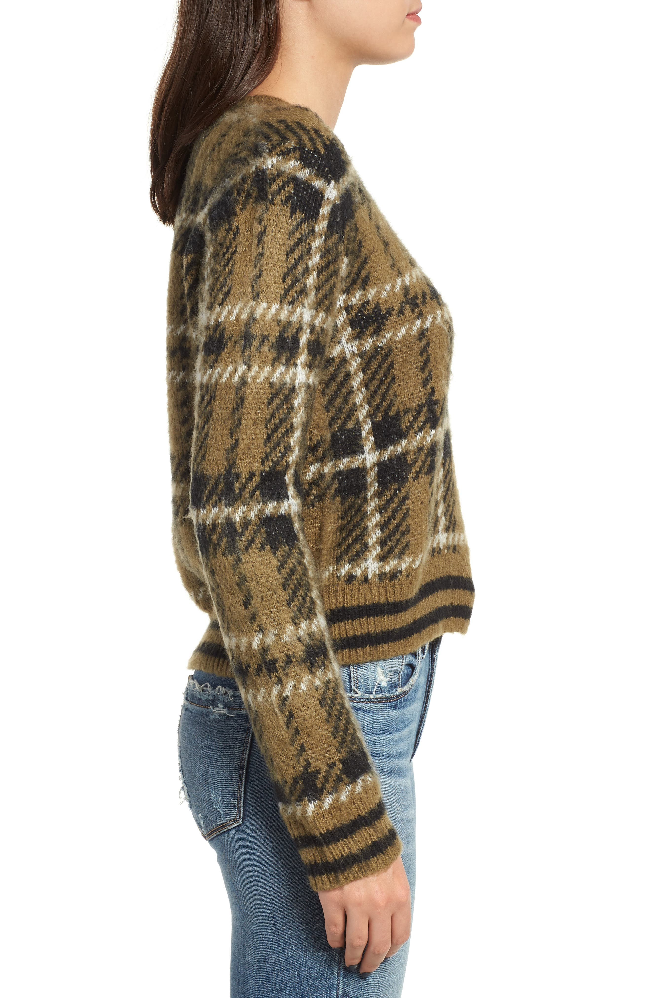 Plaid Sweater,                             Alternate thumbnail 3, color,                             315