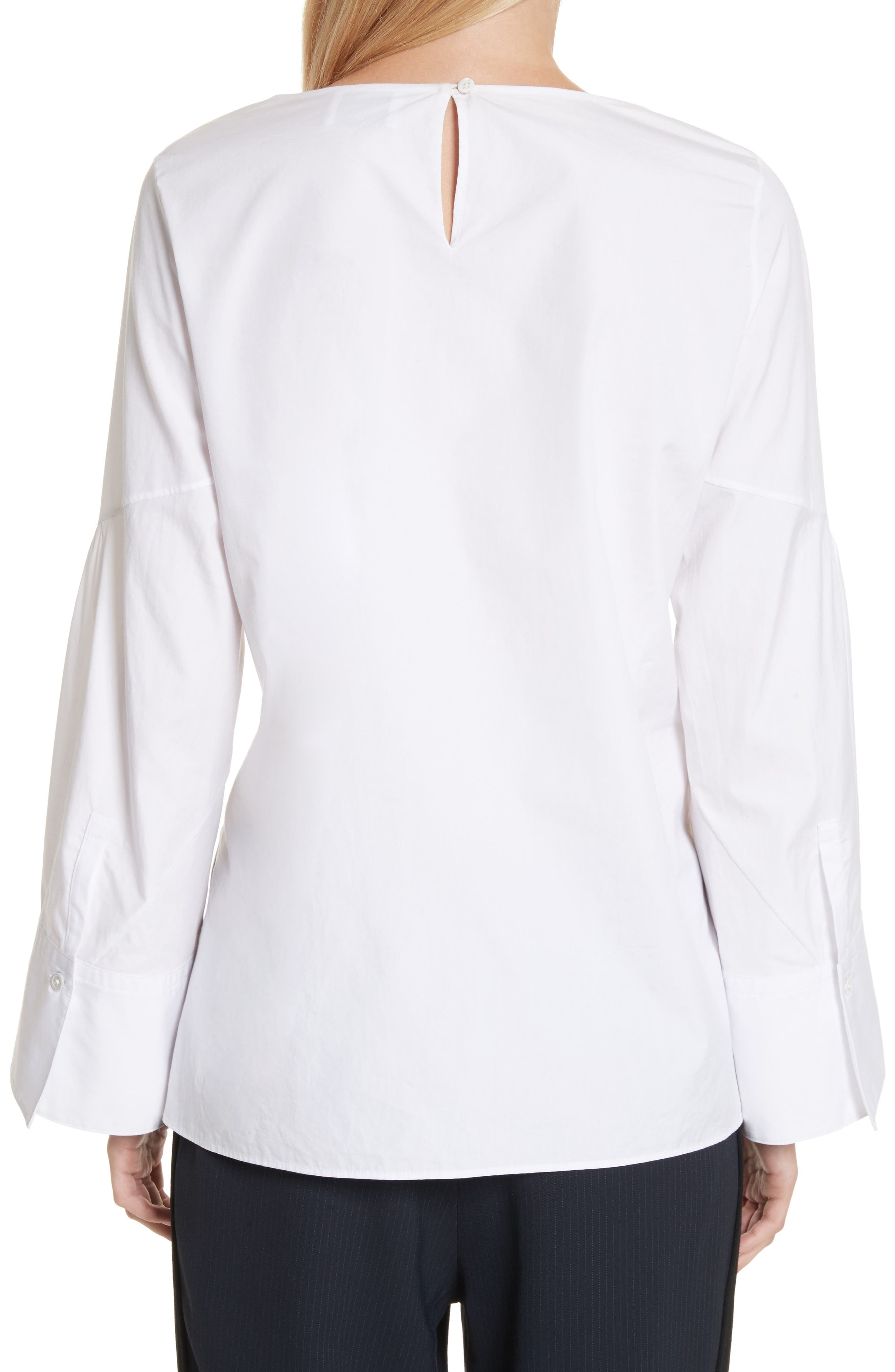 Tie Front Shirt,                             Alternate thumbnail 2, color,                             100