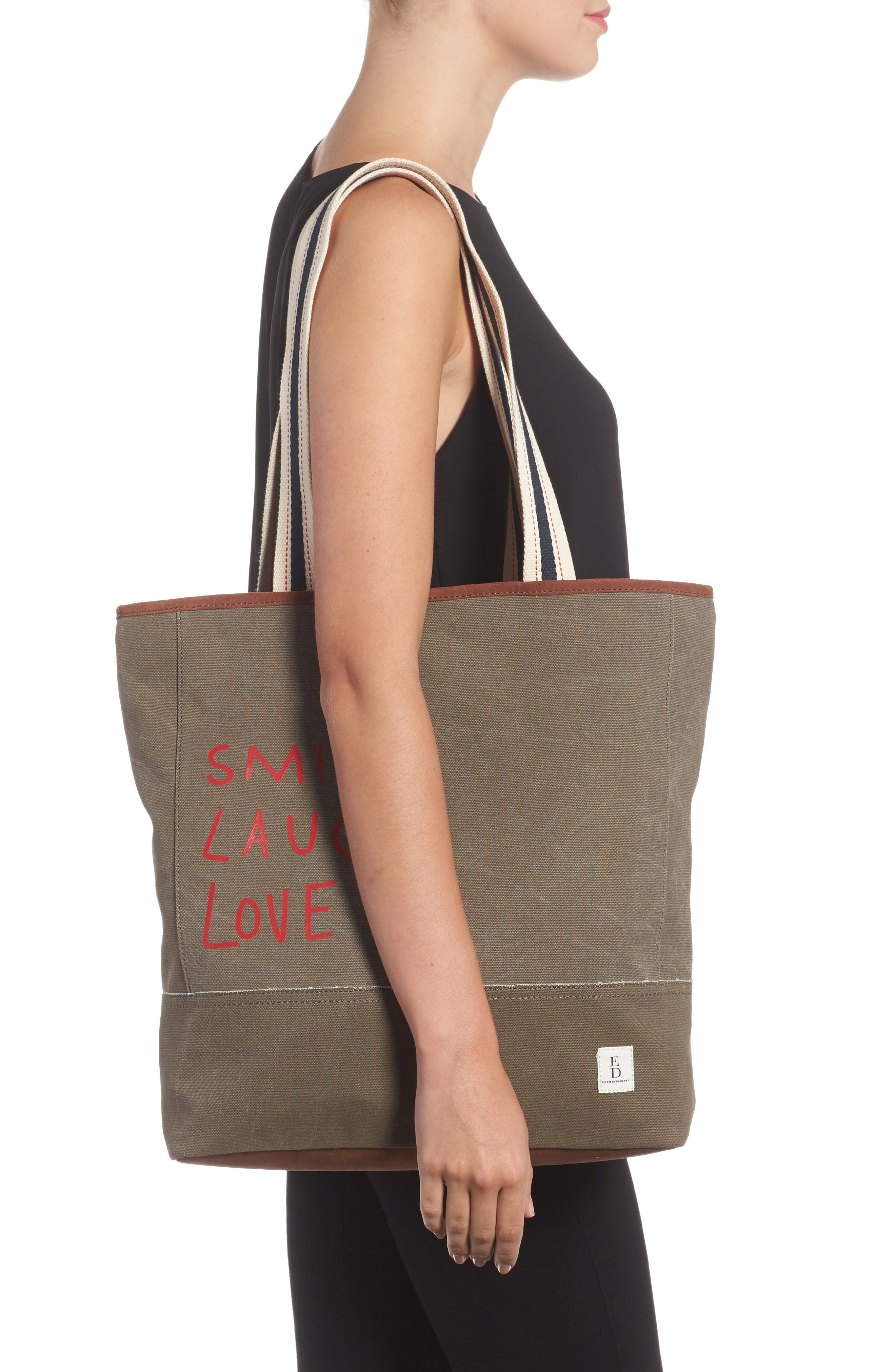 Dakin Canvas & Leather Tote,                             Alternate thumbnail 2, color,                             200