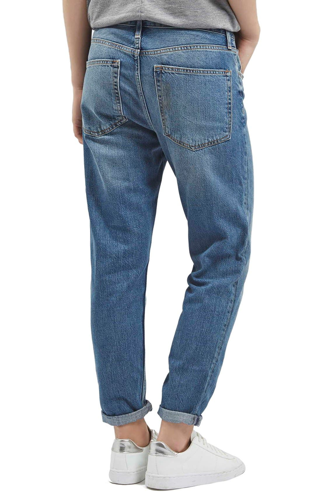 TOPSHOP,                             Moto 'Hayden' Boyfriend Jeans,                             Alternate thumbnail 4, color,                             400