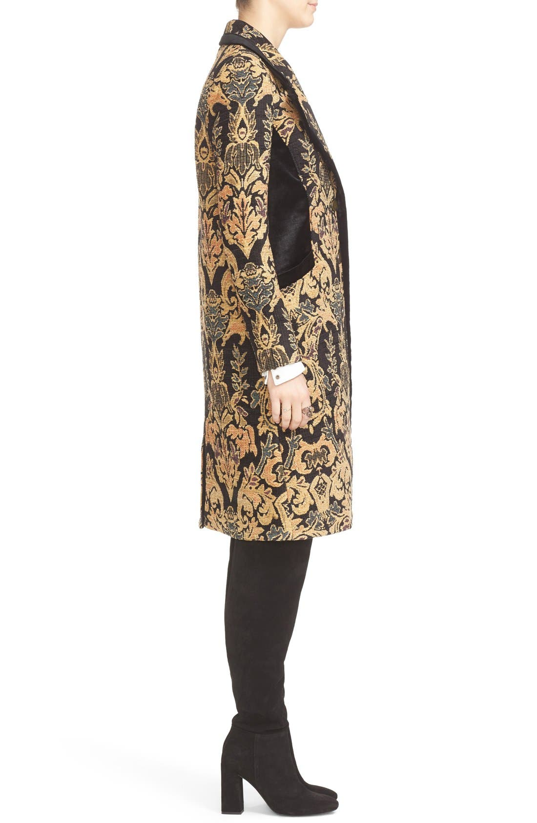 FREE PEOPLE,                             Jacquard Coat,                             Alternate thumbnail 2, color,                             001
