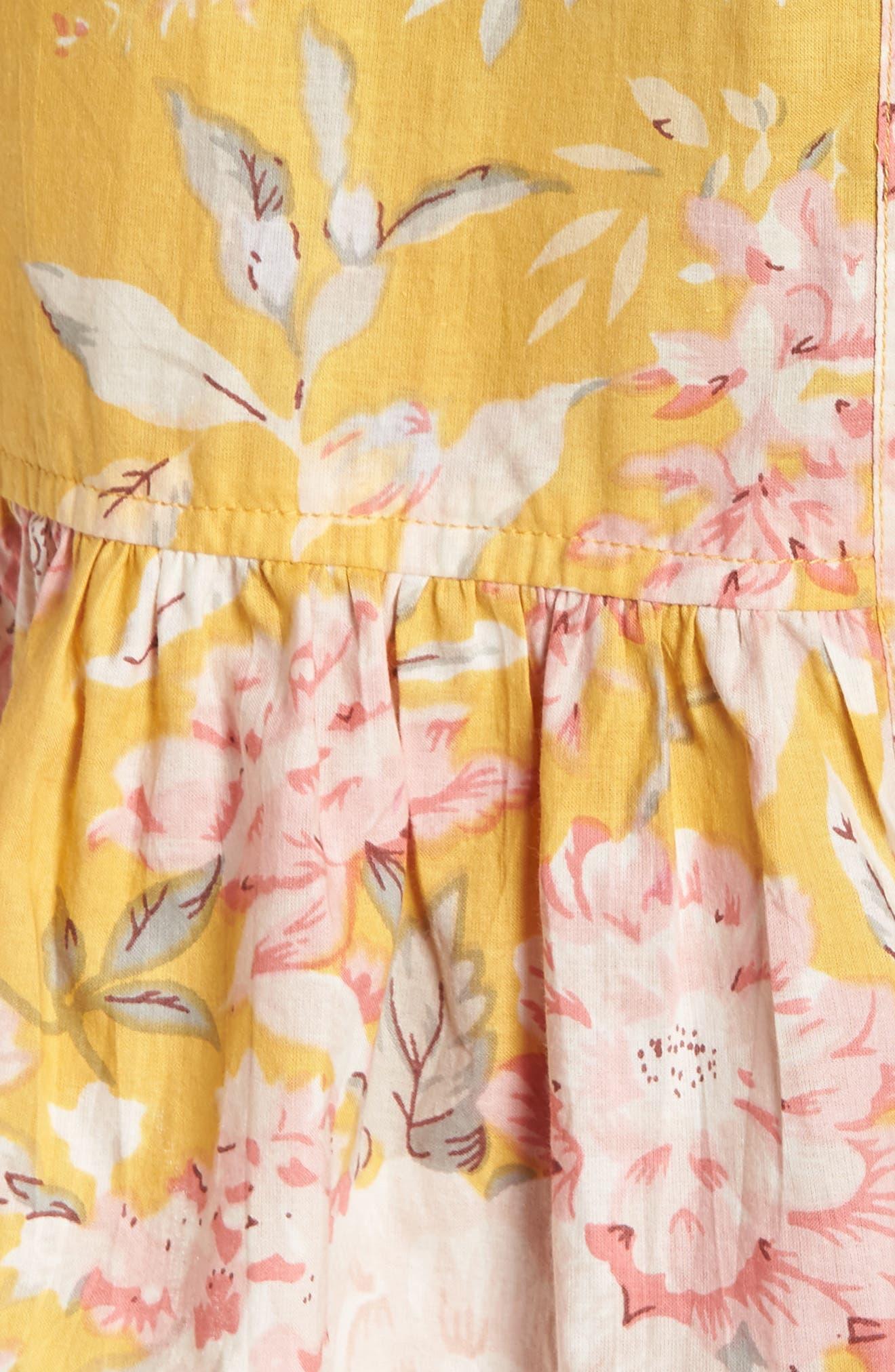 Flutter Robe,                             Alternate thumbnail 5, color,                             MARIGOLD