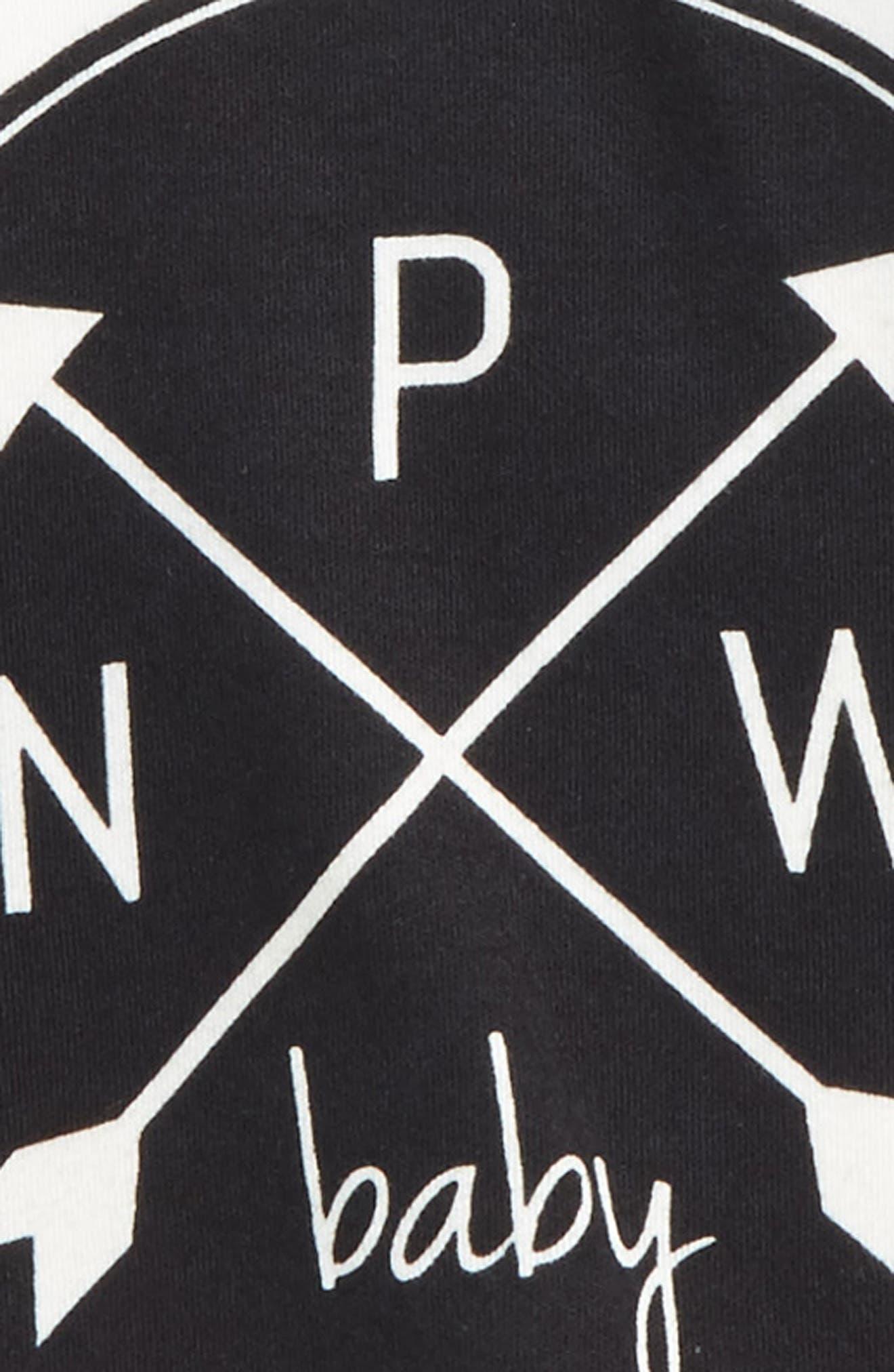 PNW Logo Organic Cotton T-Shirt,                             Alternate thumbnail 2, color,                             BLACK/ OFFWHITE