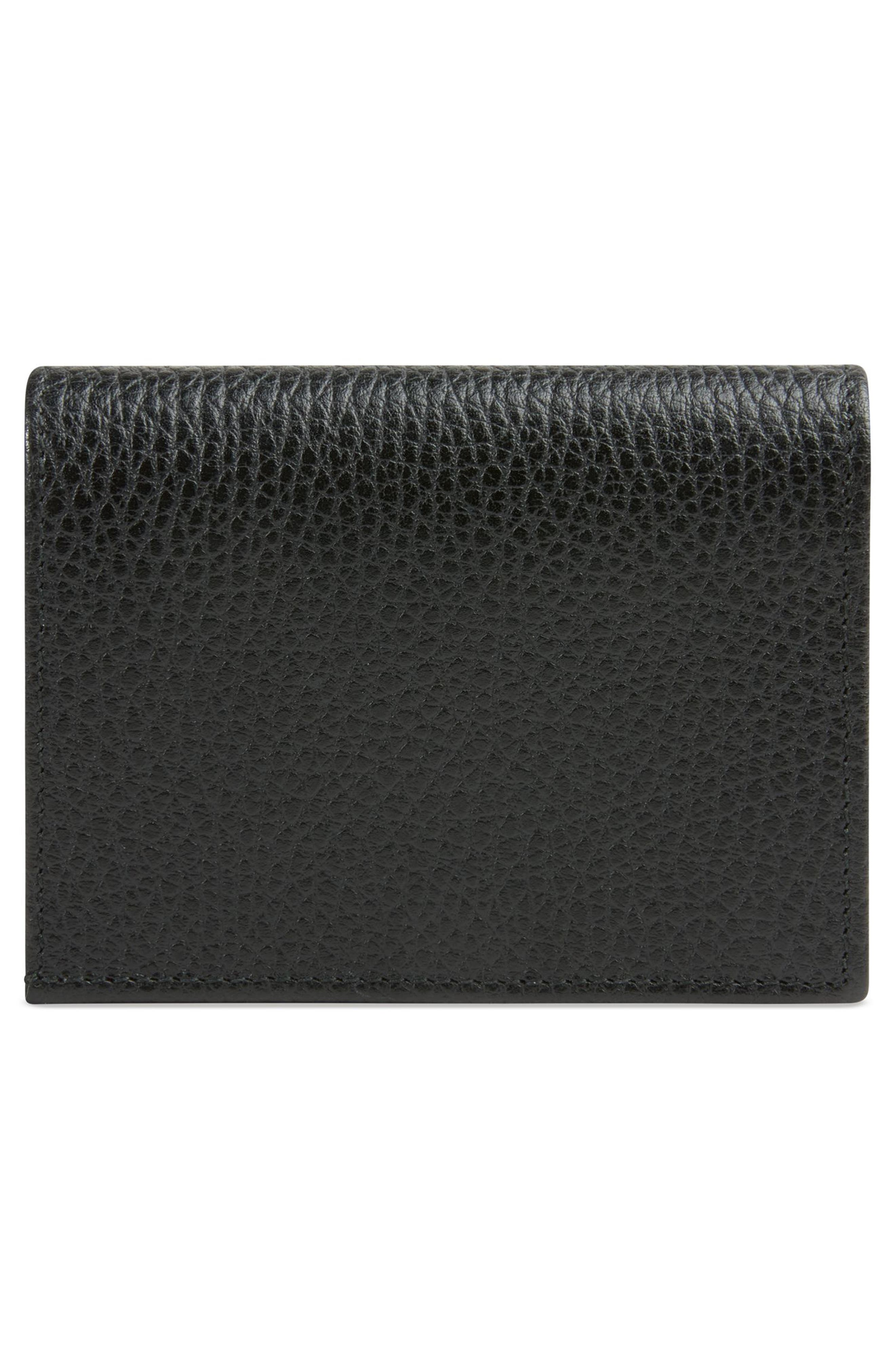 Fiocchino Leather Card Case,                             Alternate thumbnail 3, color,                             NERO/ PERFECT PINK/ CRYSTAL