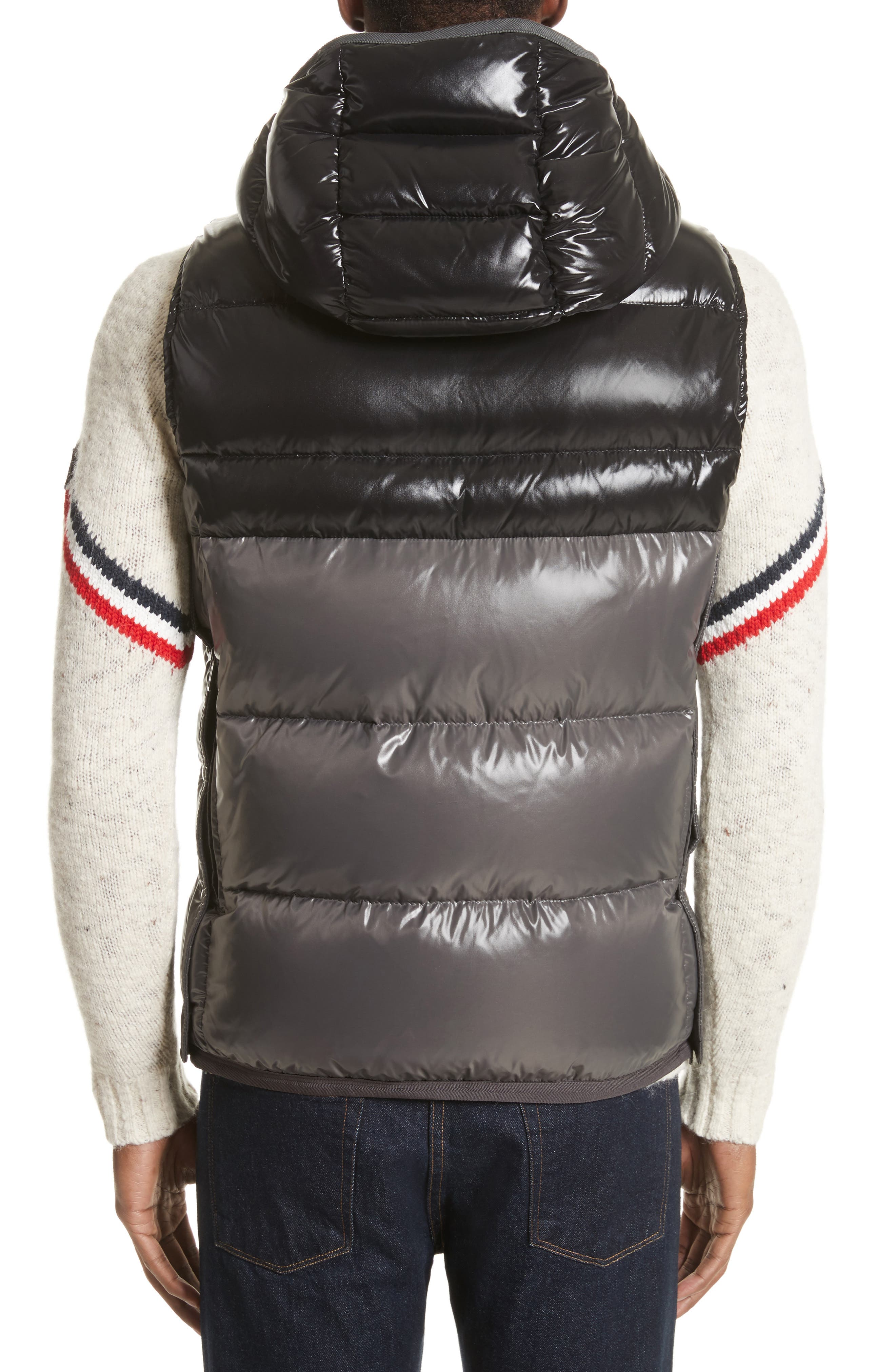 Balmat Quilted Down Vest with Detachable Hood,                             Alternate thumbnail 2, color,                             001