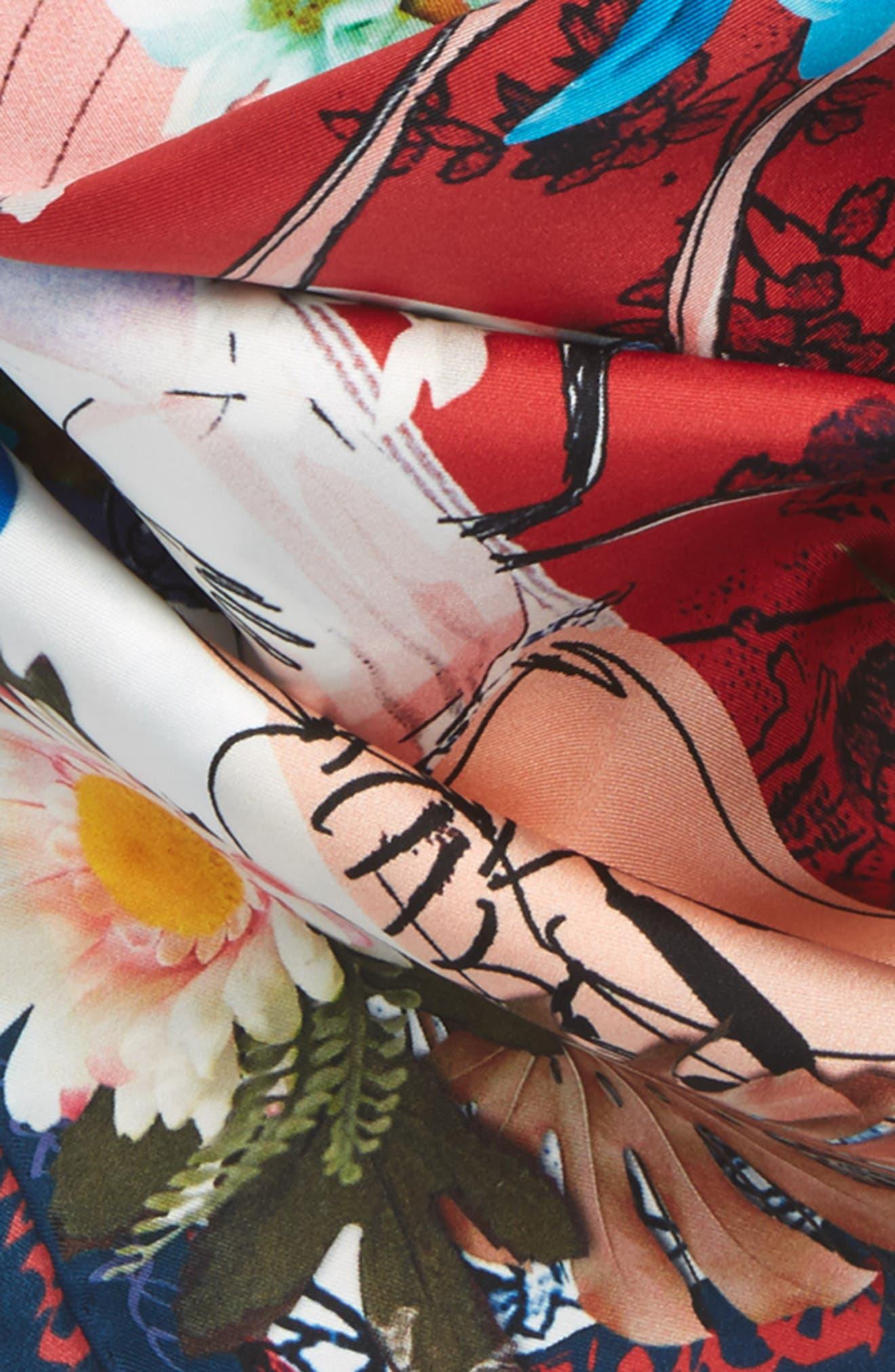 Les Filles en Fleur Square Silk Scarf,                             Alternate thumbnail 13, color,