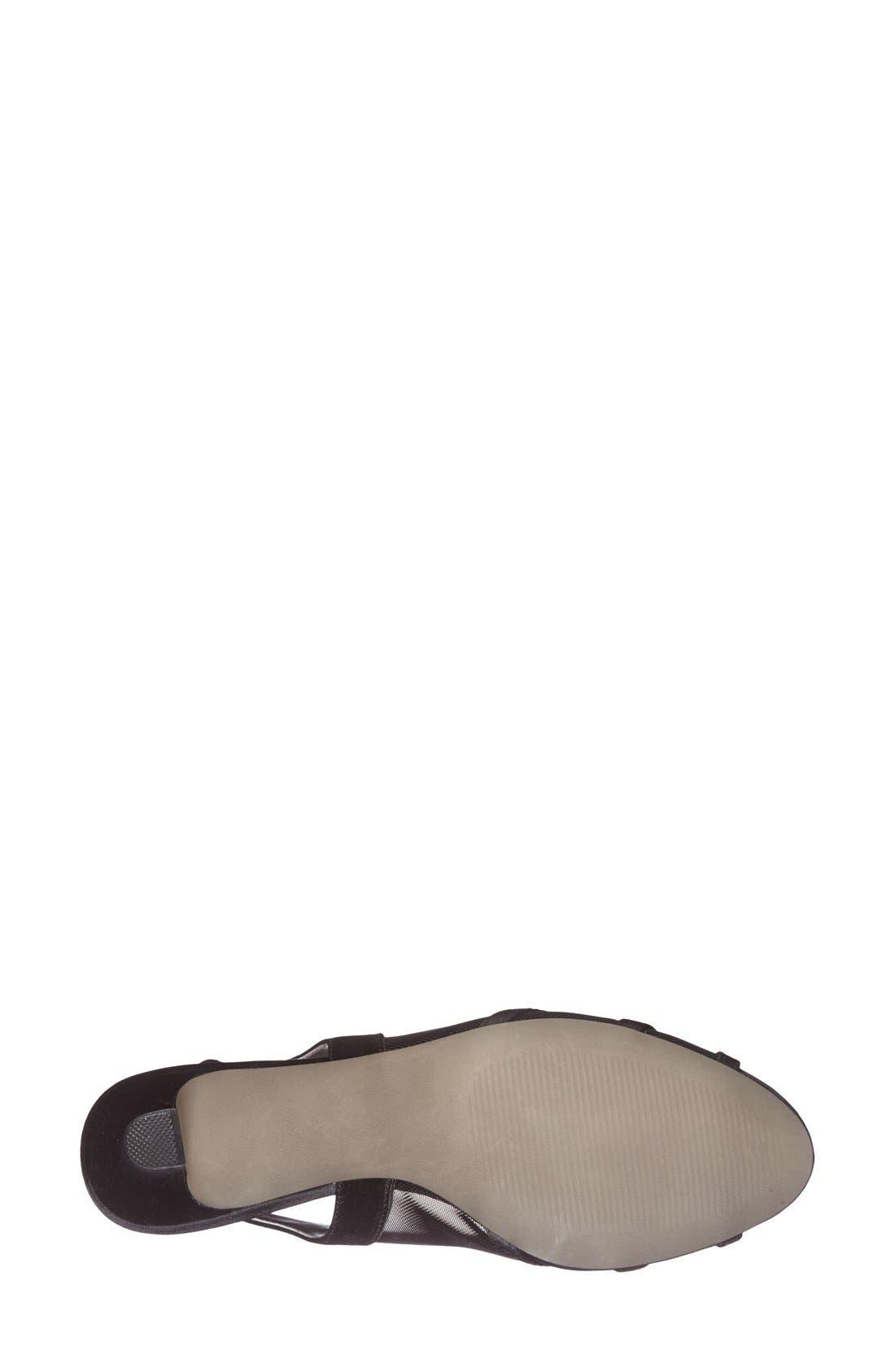 'Petal' Open Toe Slingback Pump,                             Alternate thumbnail 3, color,                             001