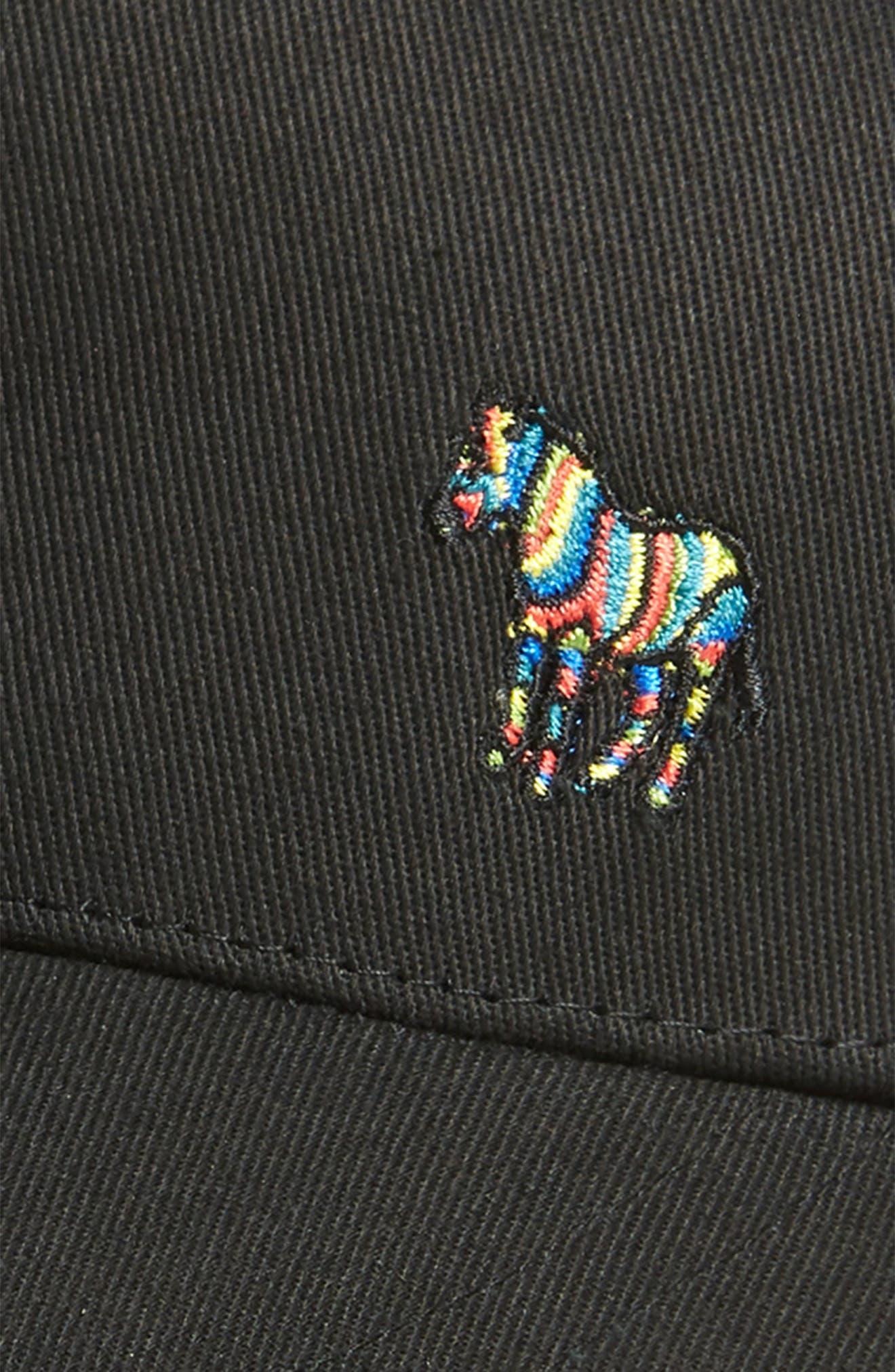 Zebra Logo Ball Cap,                             Alternate thumbnail 3, color,                             001