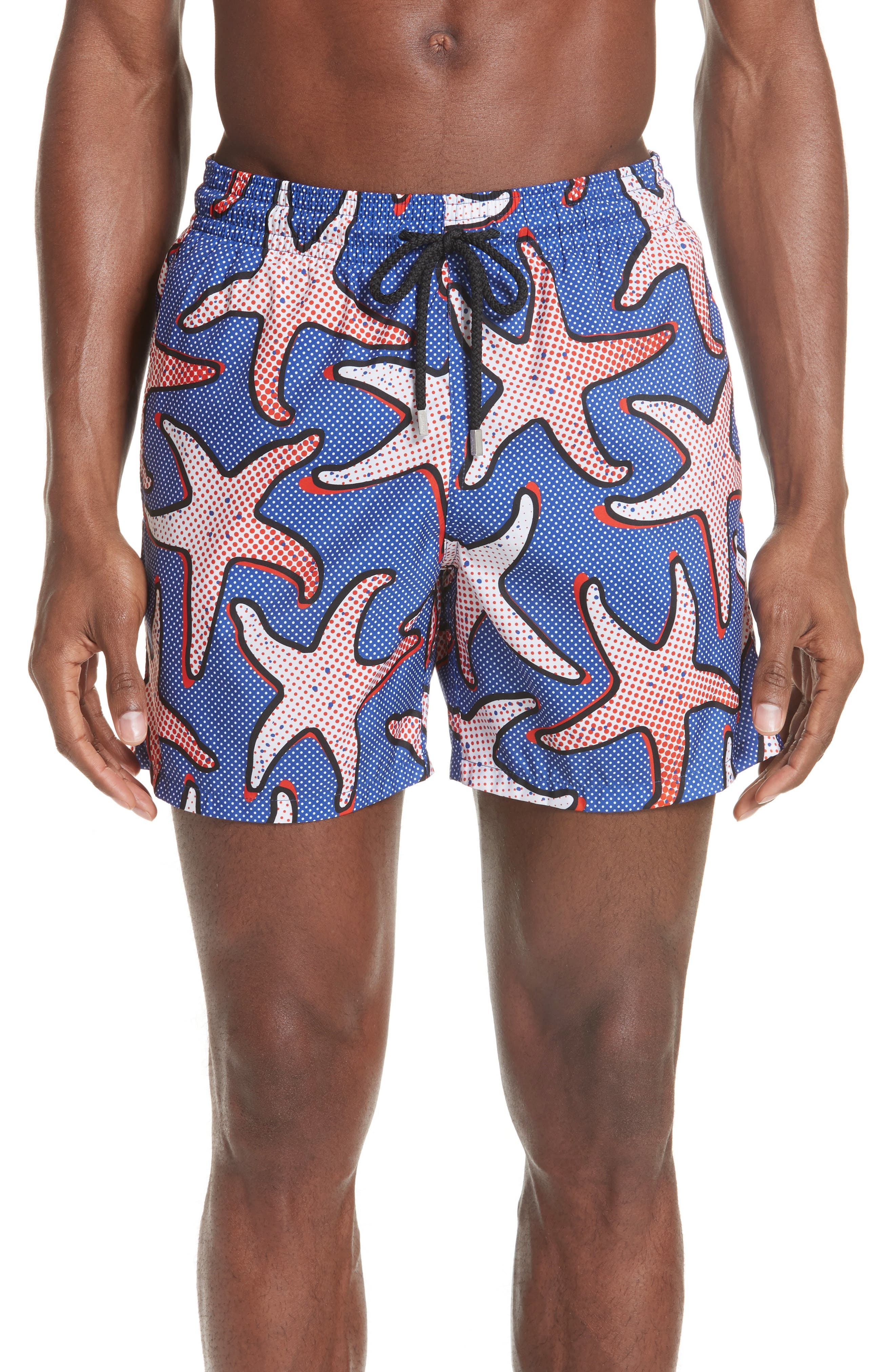 Vilebrequin Starfish Art Swim Trunks, Blue