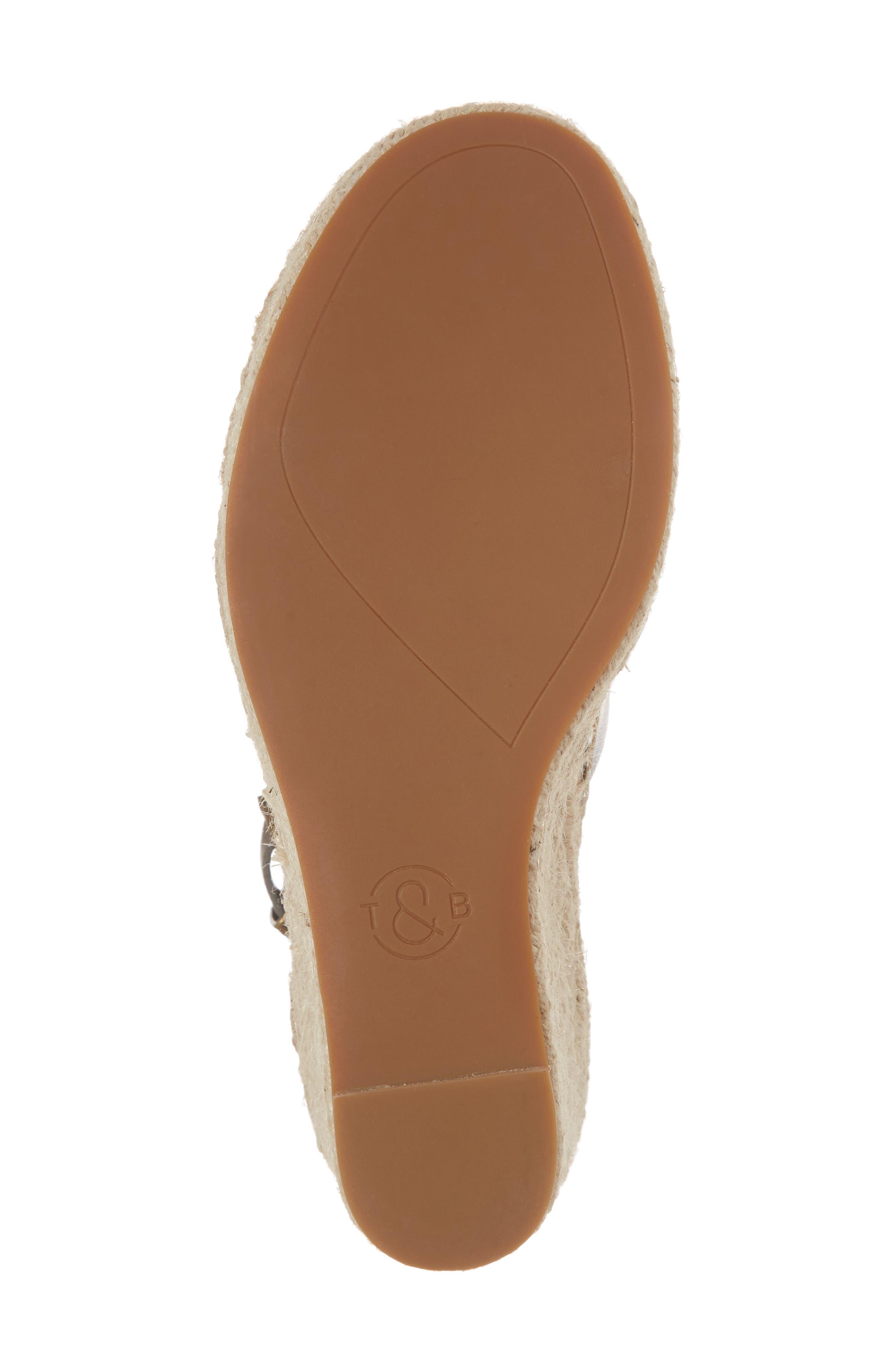 TREASURE & BOND,                             Sannibel Platform Wedge Sandal,                             Alternate thumbnail 6, color,                             GREY LEATHER