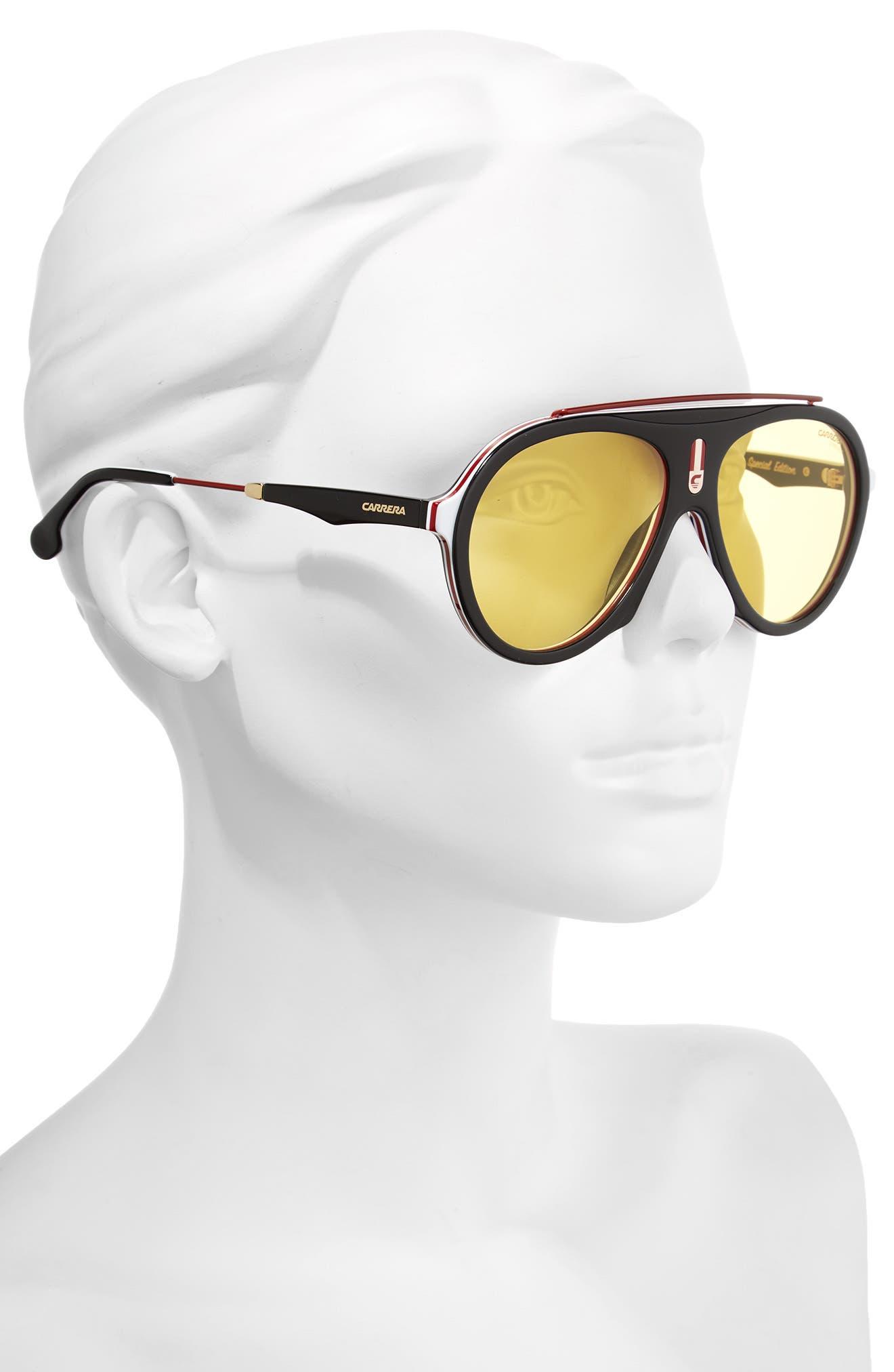 Carrera Flag 57mm Mirrored Pilot Sunglasses,                             Alternate thumbnail 9, color,