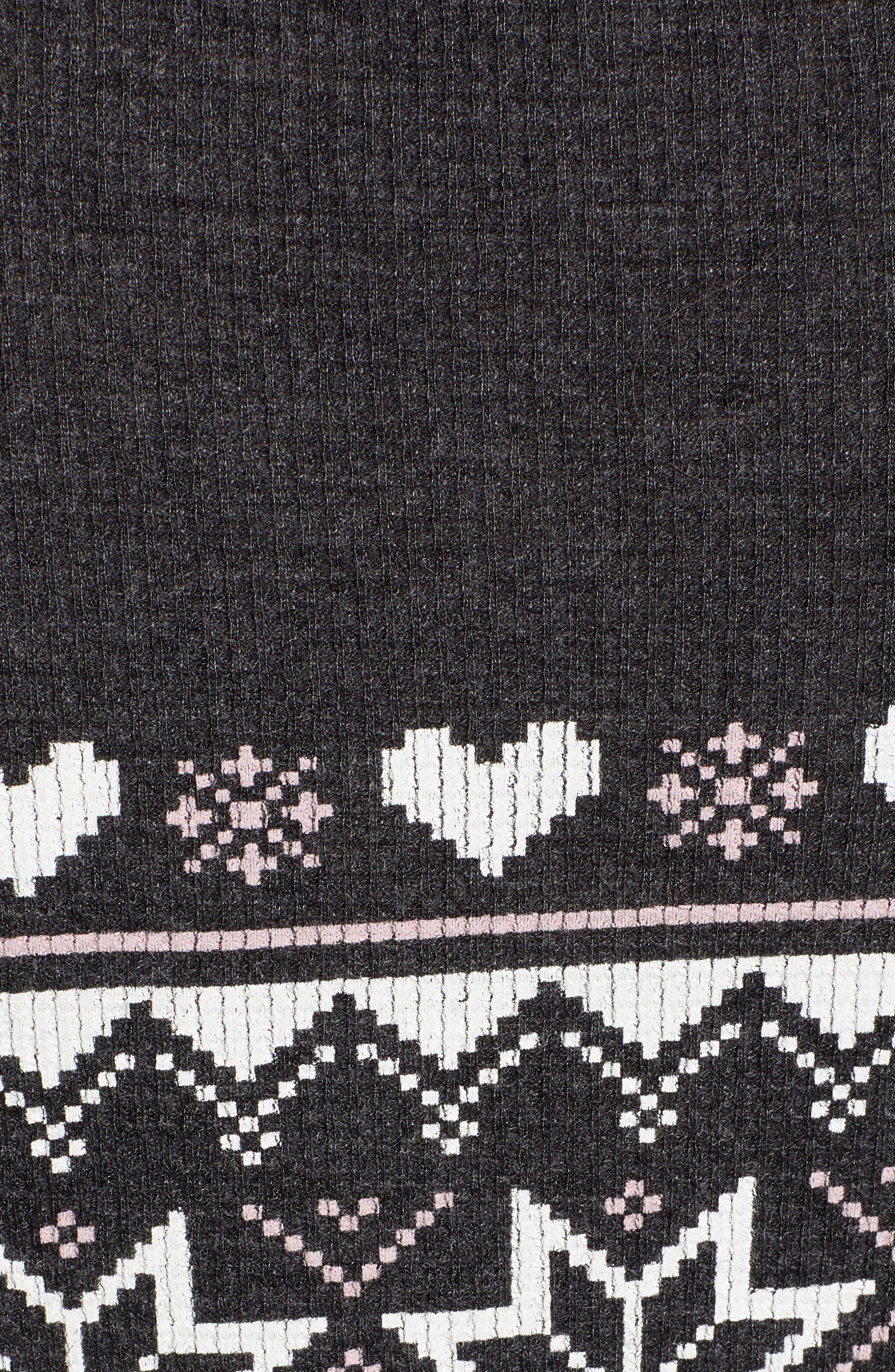 Fair Isle Love Jumpsuit,                             Alternate thumbnail 6, color,                             CLEAN BLACK