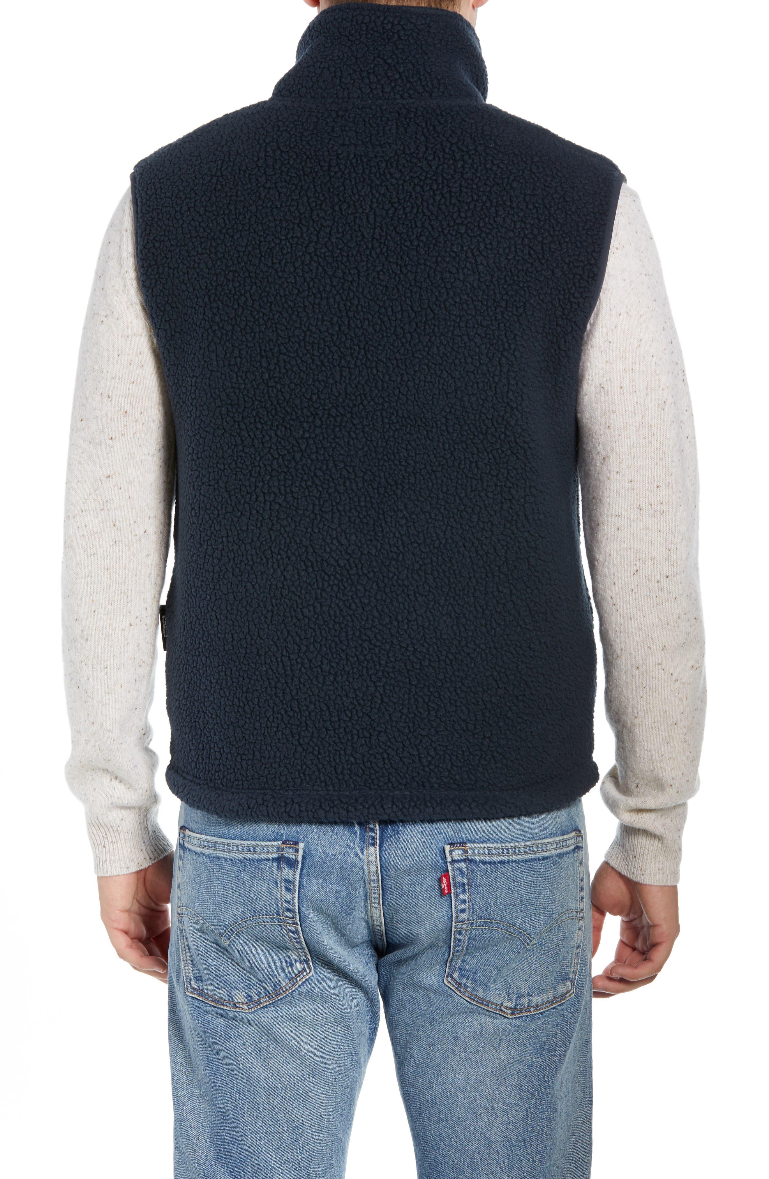 Fleece Zip Vest,                             Alternate thumbnail 2, color,                             NAVY