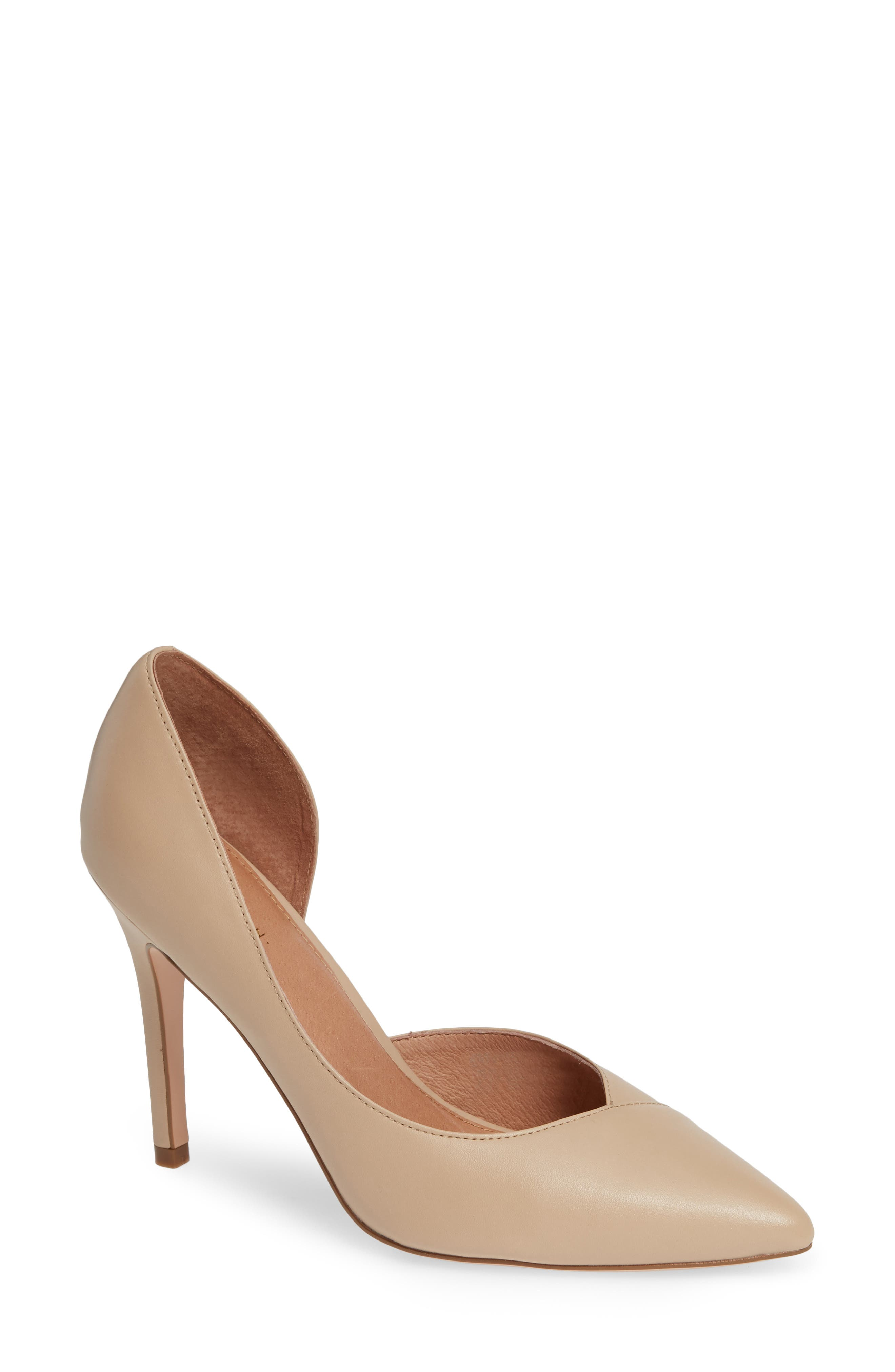 Autumn Pump,                         Main,                         color, NUDE LEATHER
