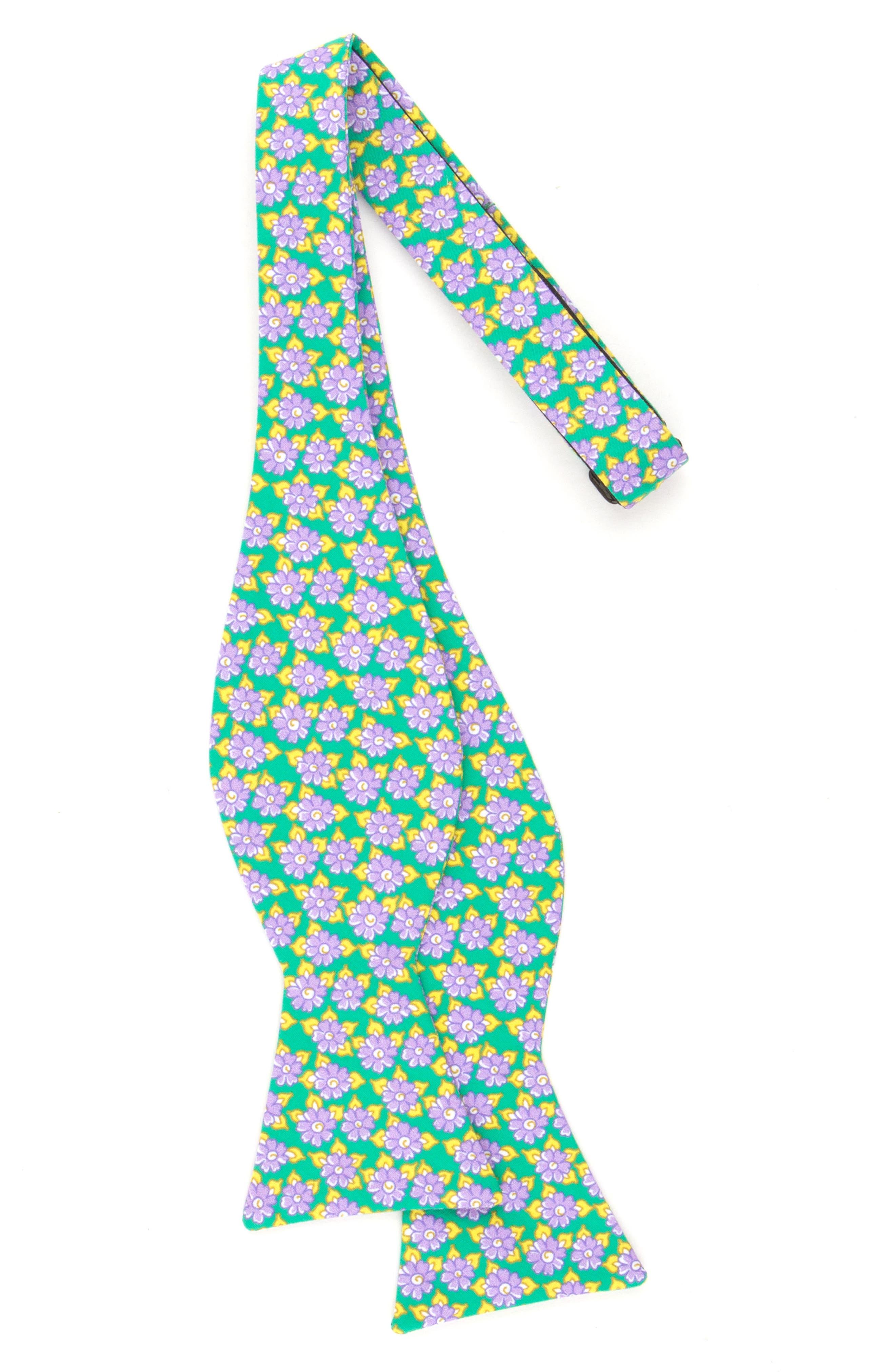 Monmouth Floral Cotton Bow Tie,                             Alternate thumbnail 2, color,                             300