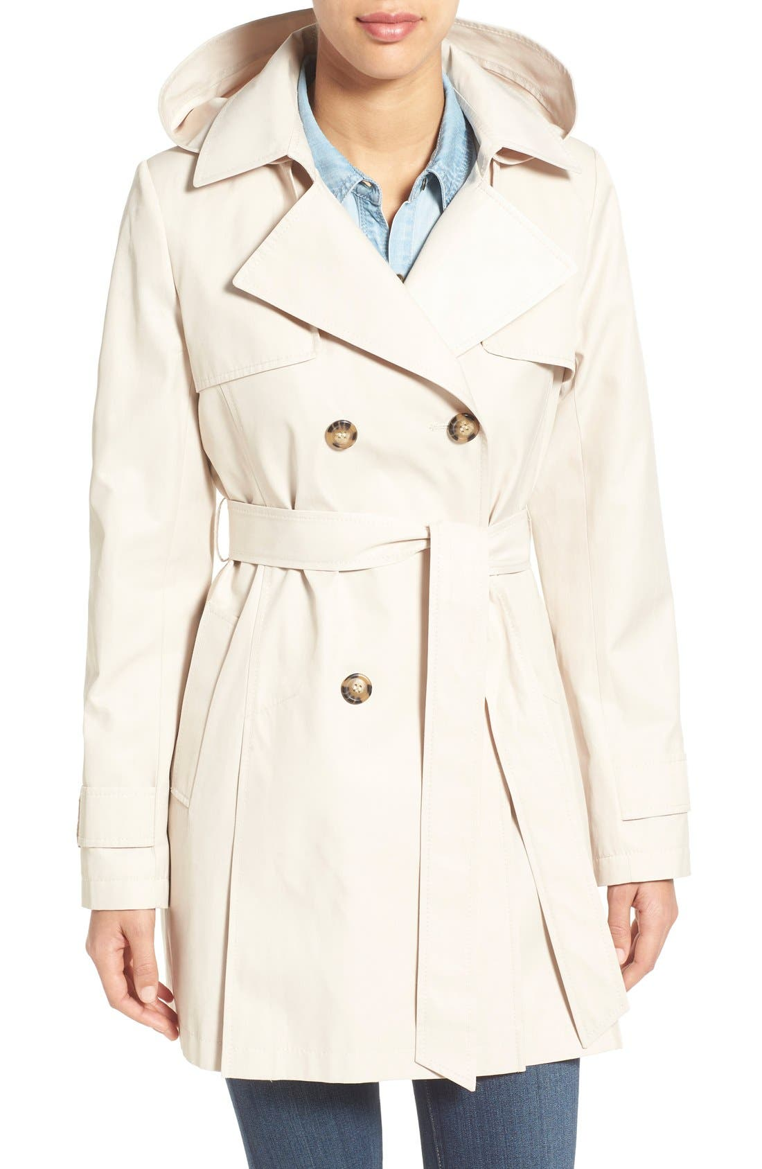 Detachable Hood Trench Coat,                             Main thumbnail 3, color,