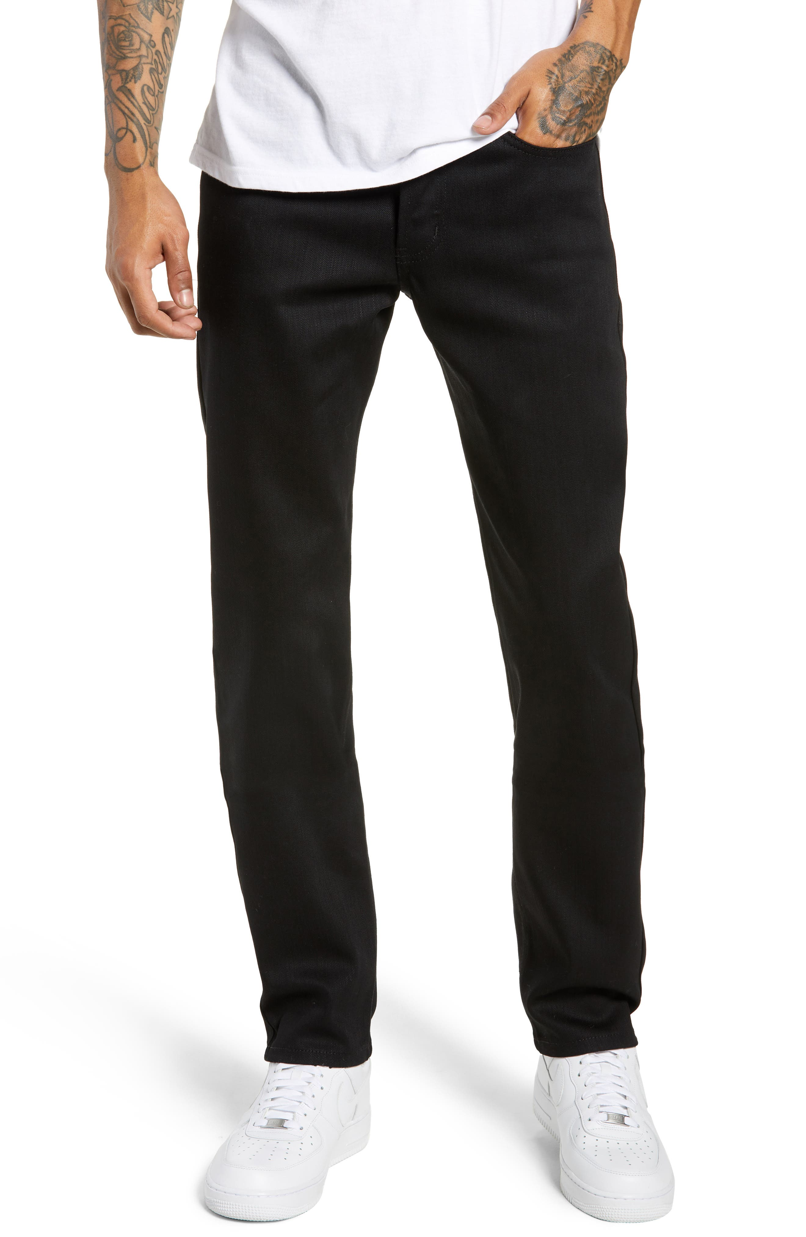 Weird Guy Slim Fit Jeans, Main, color, BLACK POWER STRETCH