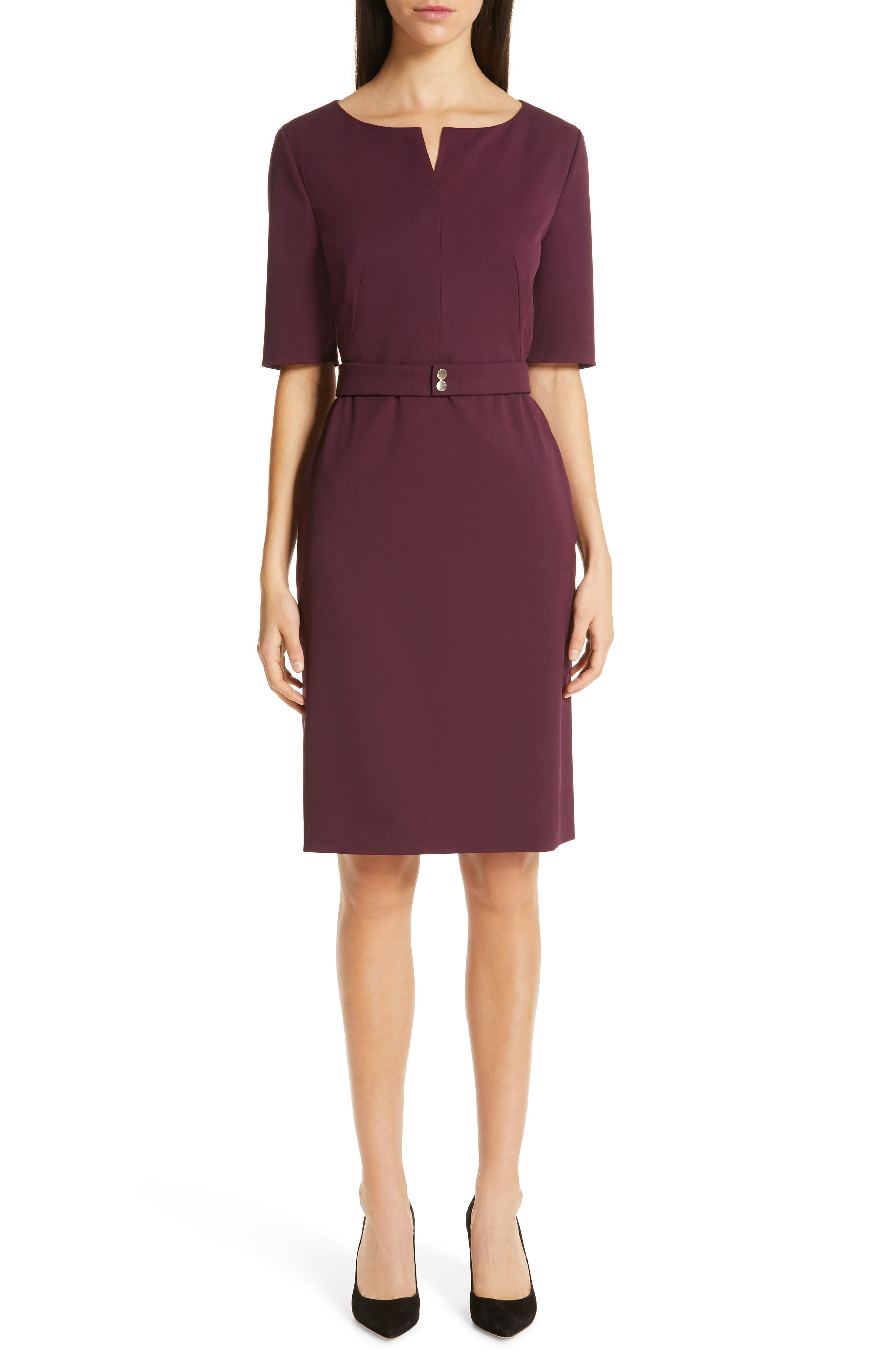 Boss Debaly Sheath Dress, Purple