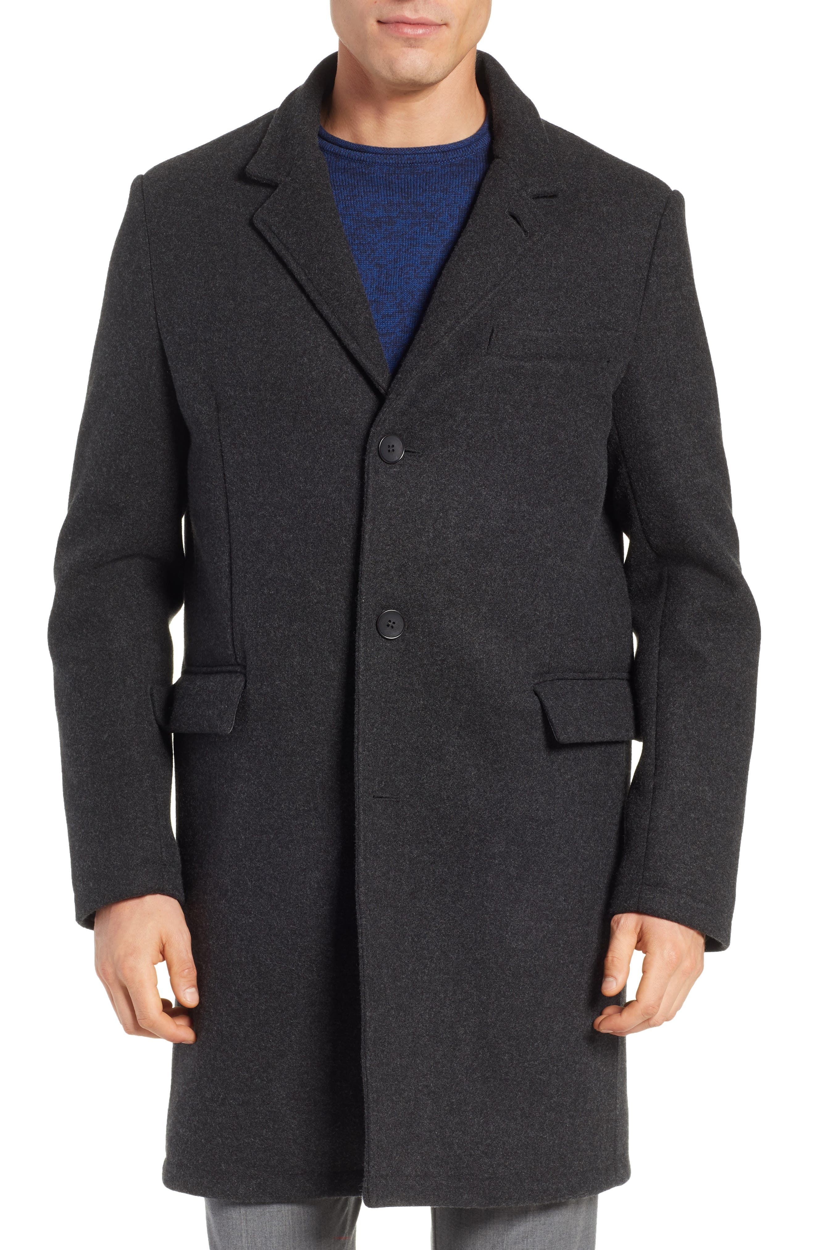 Westcott Wool Car Coat,                             Alternate thumbnail 4, color,                             001