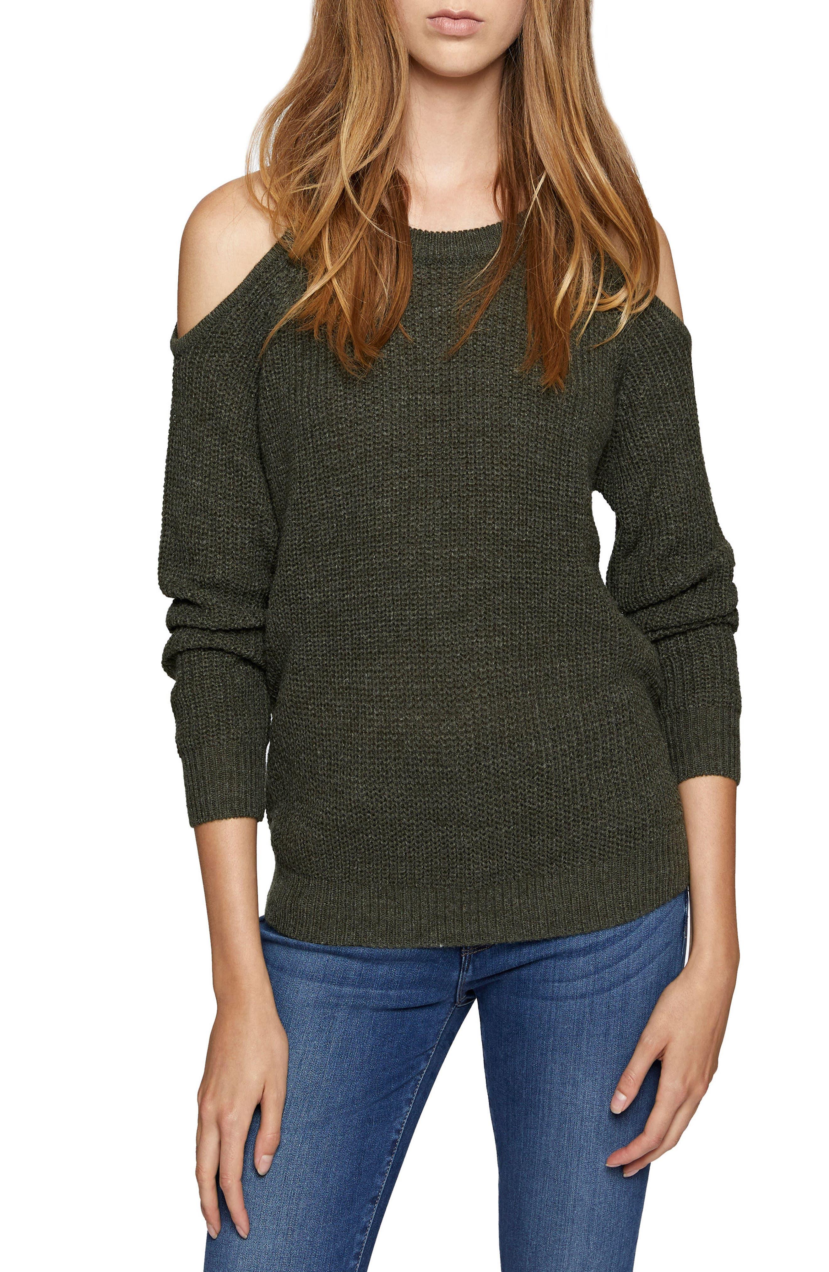 Riley Cold Shoulder Sweater,                             Main thumbnail 1, color,                             305