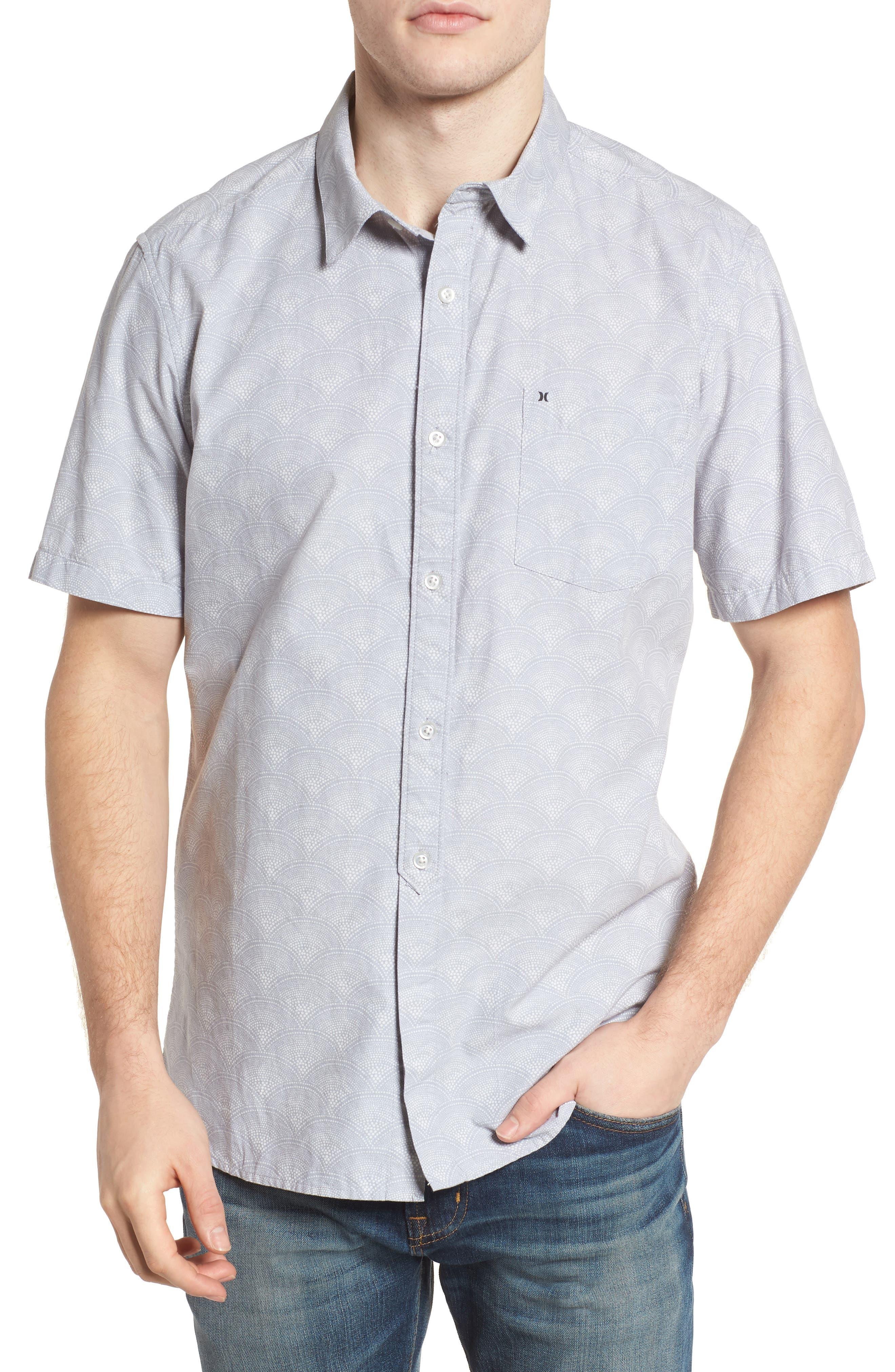 Pescado Short Sleeve Oxford Shirt,                             Main thumbnail 1, color,                             LIGHT PUMICE