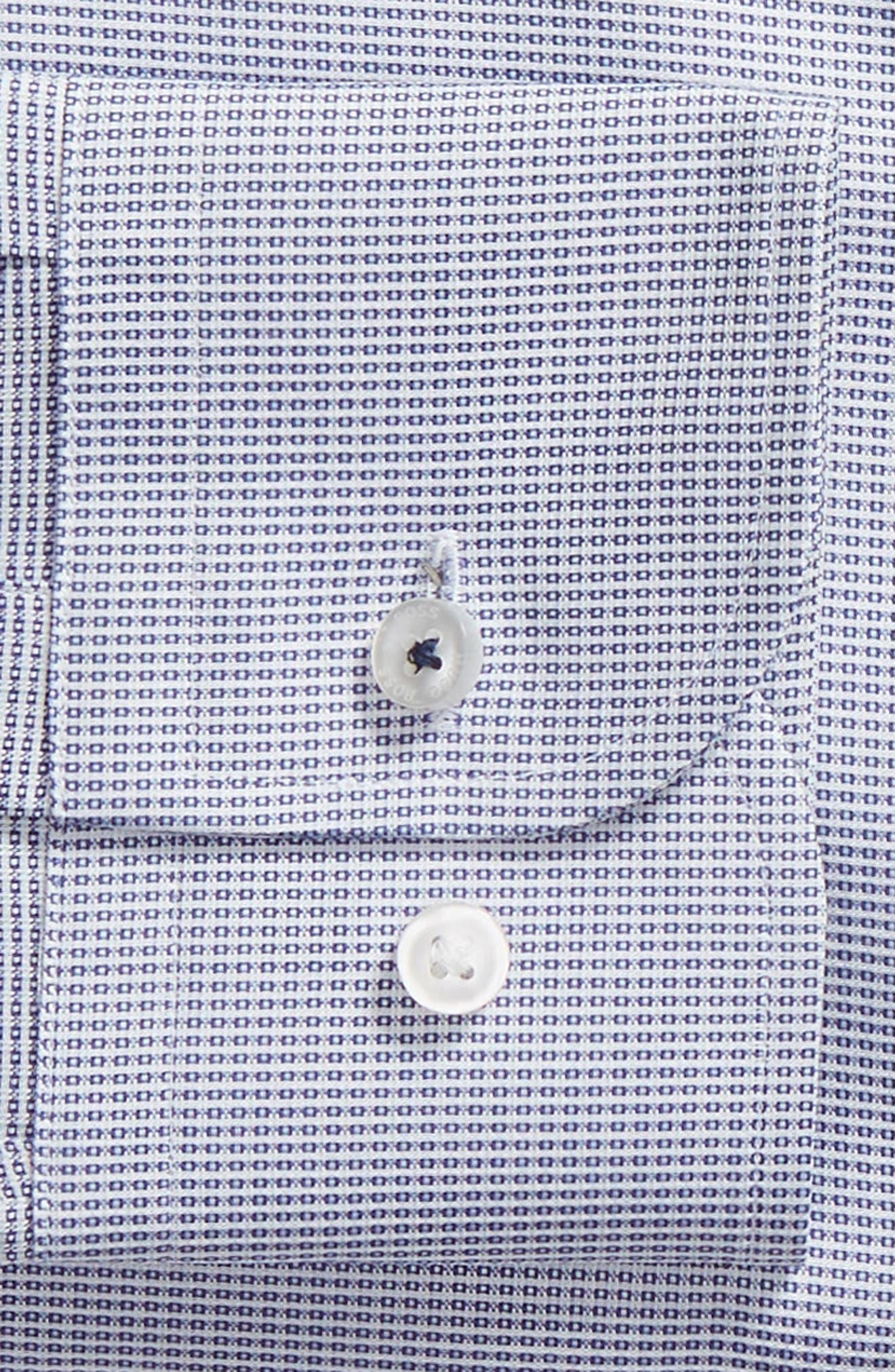 x Nordstrom Jerrin Slim Fit Solid Dress Shirt,                             Alternate thumbnail 6, color,                             BLUE