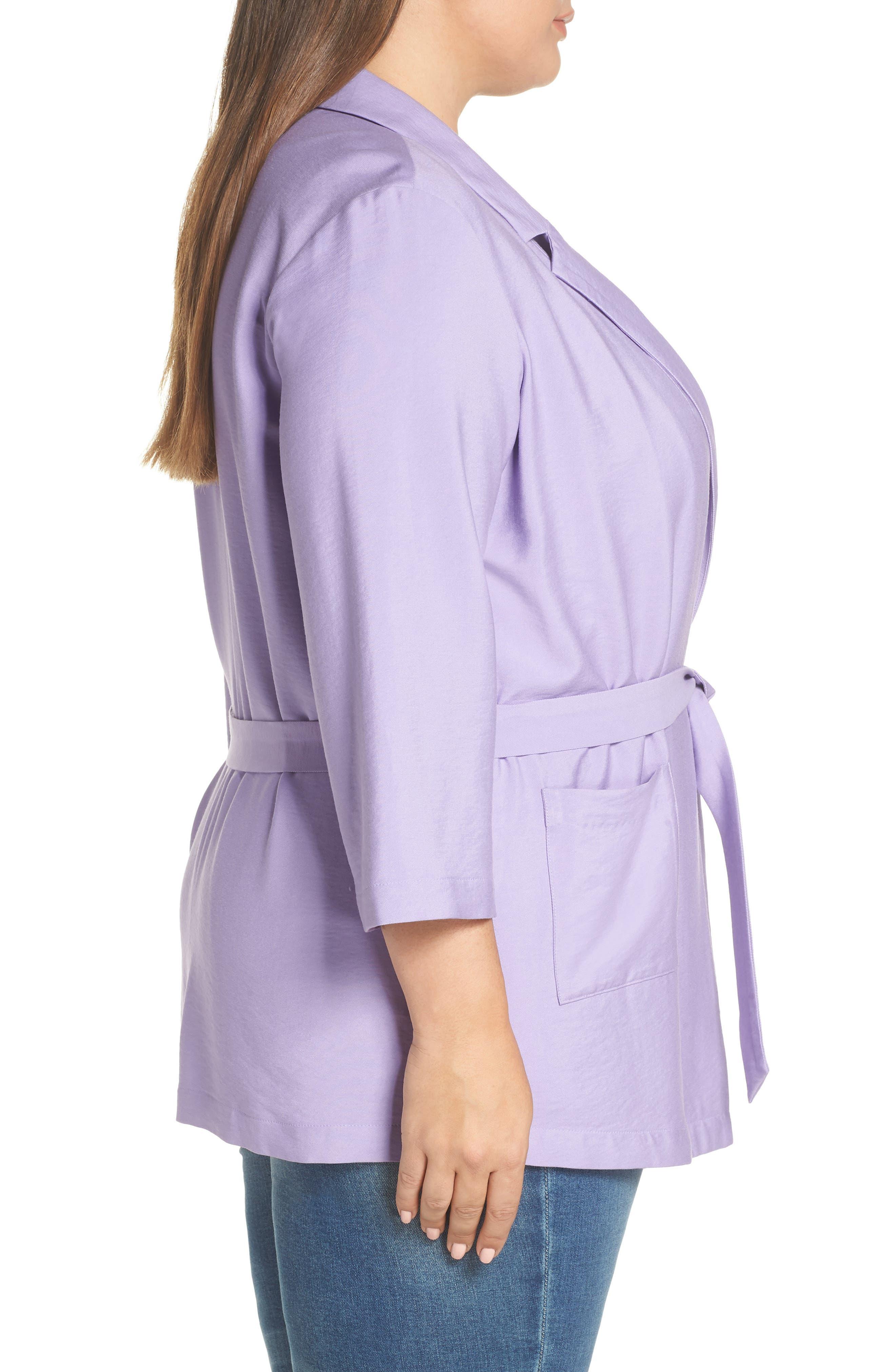 Belted Jacket,                             Alternate thumbnail 10, color,                             PURPLE BONNET