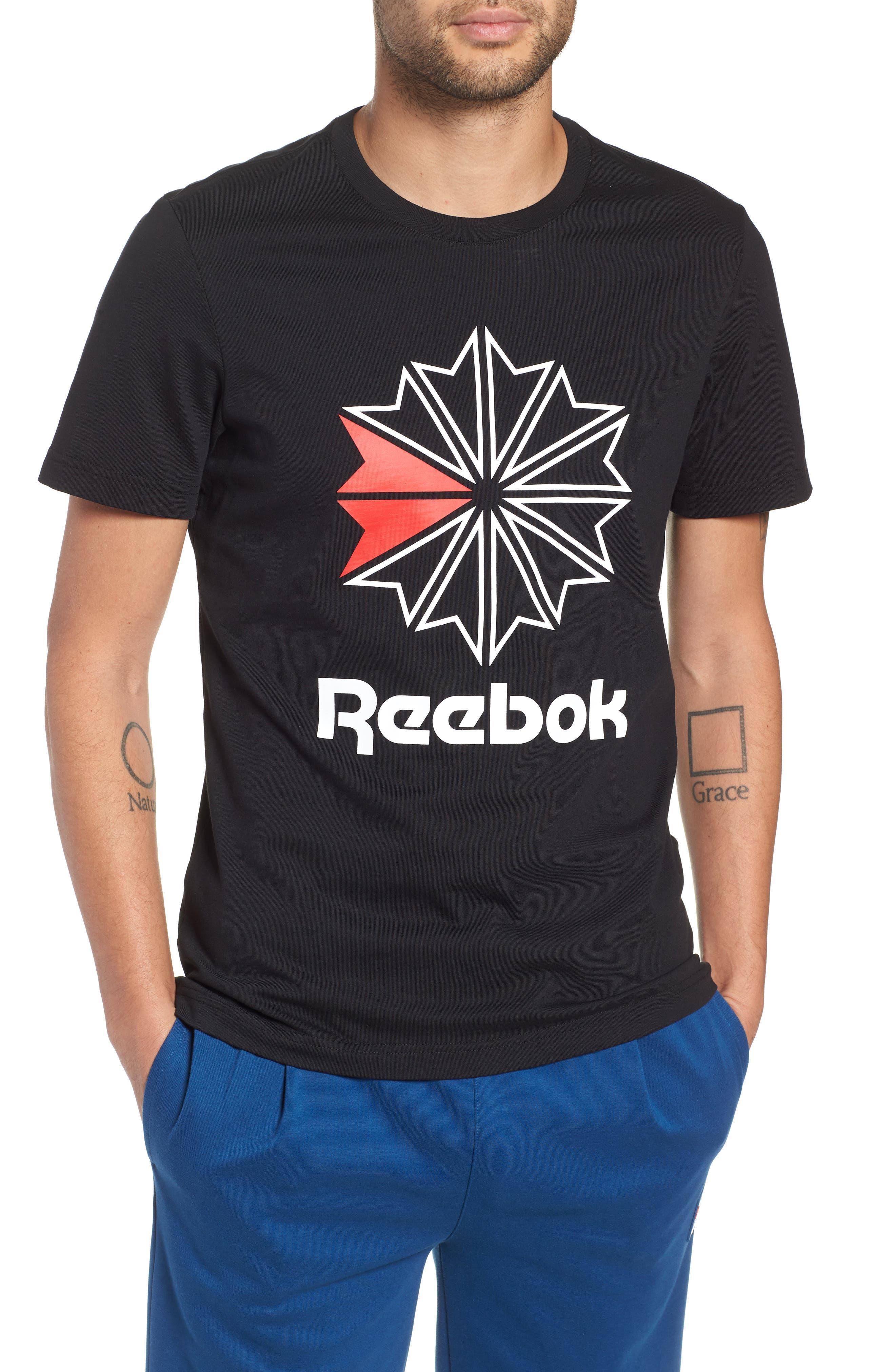 Logo Graphic T-Shirt,                             Main thumbnail 1, color,                             BLACK/WHITE