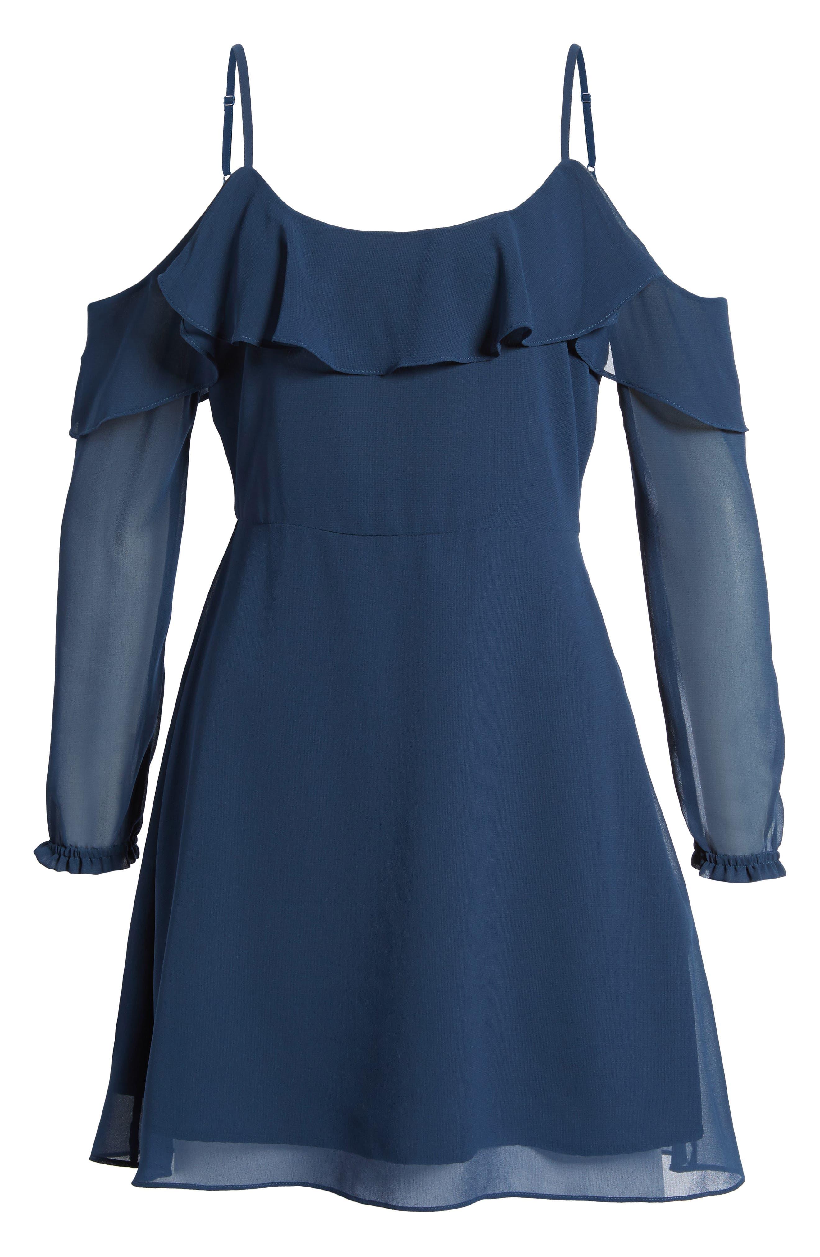 Sundra Cold Shoulder Dress,                             Alternate thumbnail 6, color,                             400