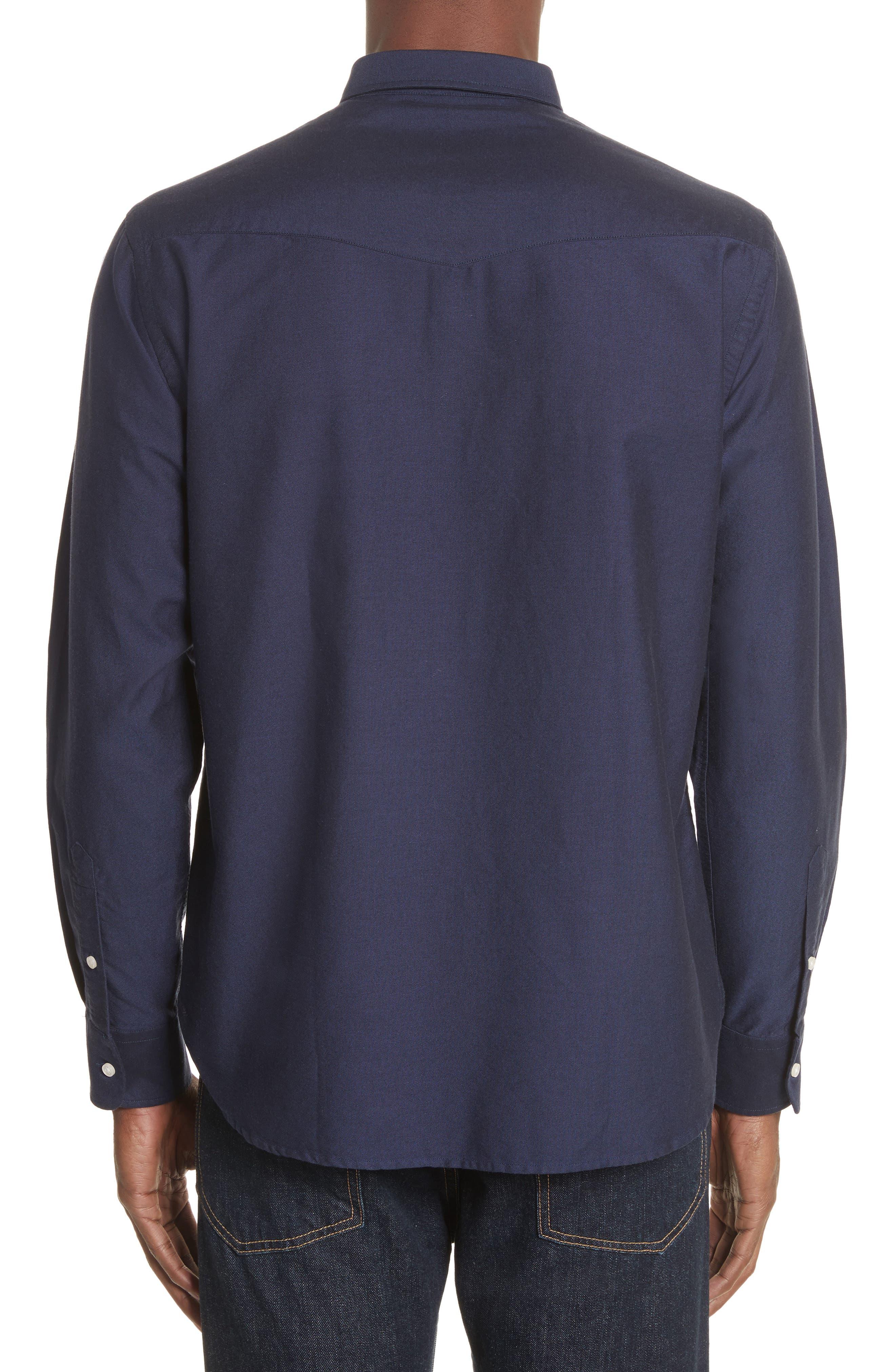 Oxford Shirt,                             Alternate thumbnail 3, color,                             410