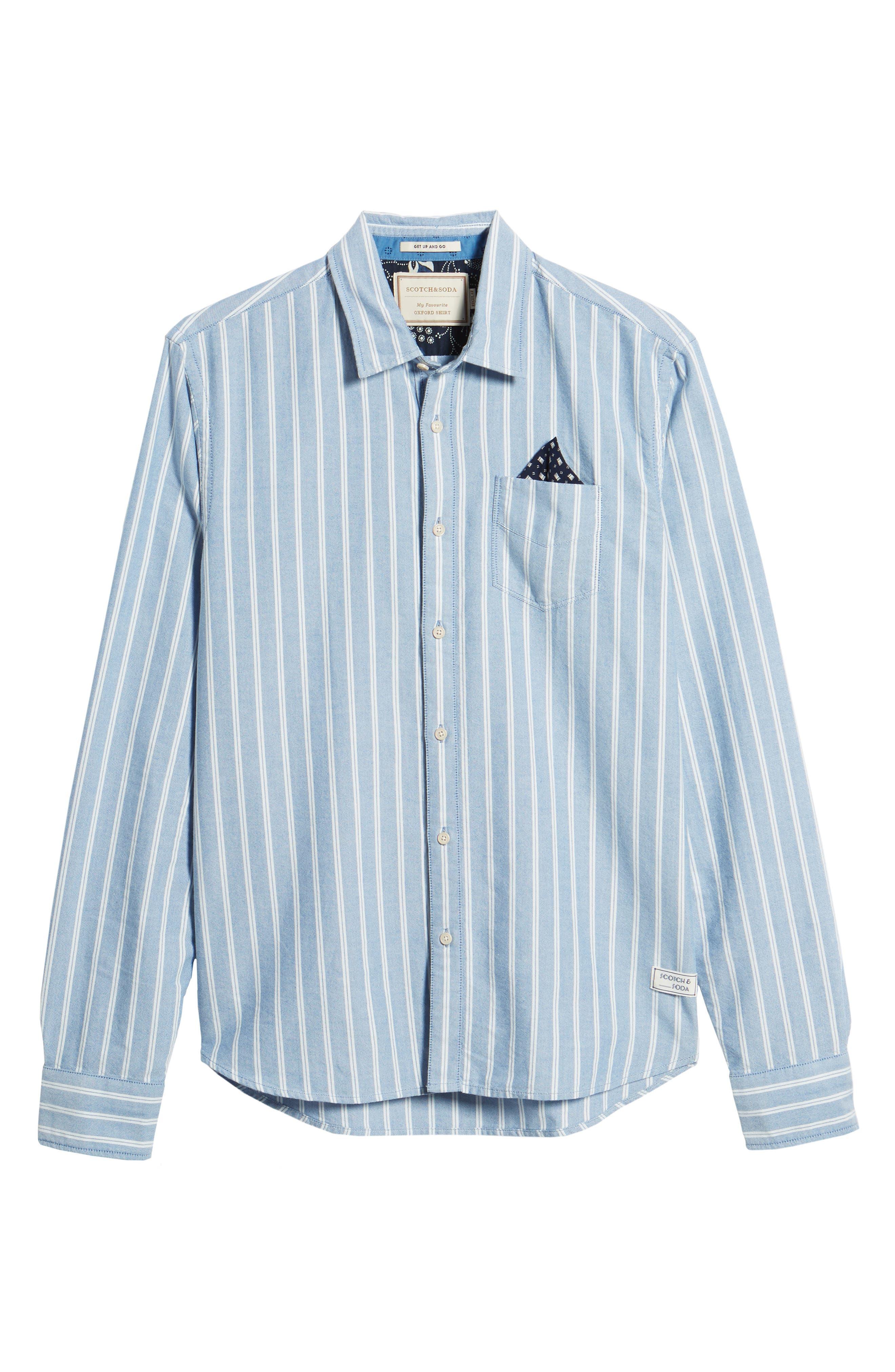 Oxford Shirt,                             Alternate thumbnail 6, color,                             410